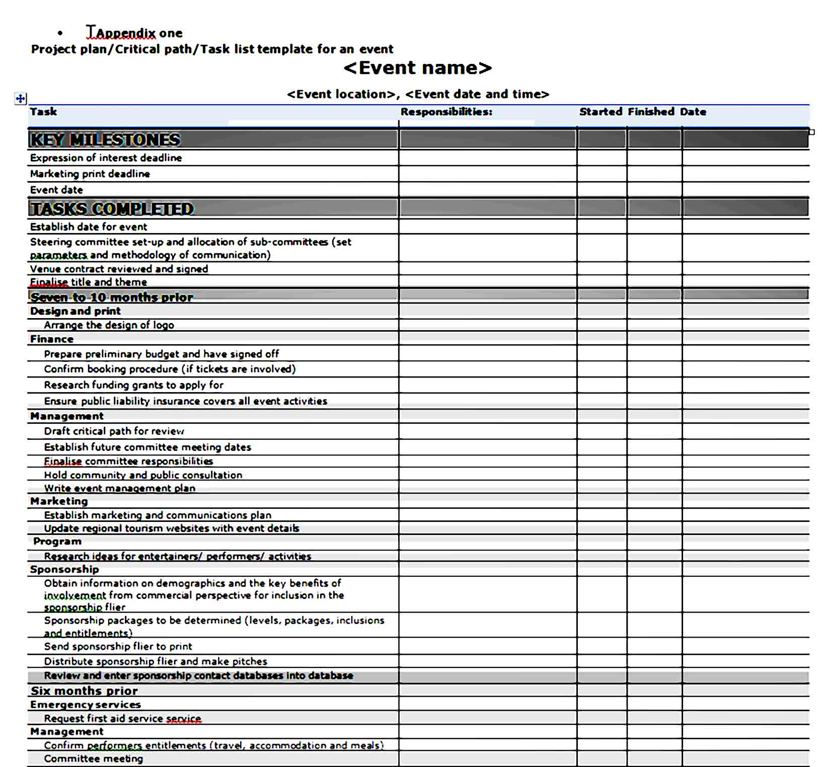 Event Planning Template 03