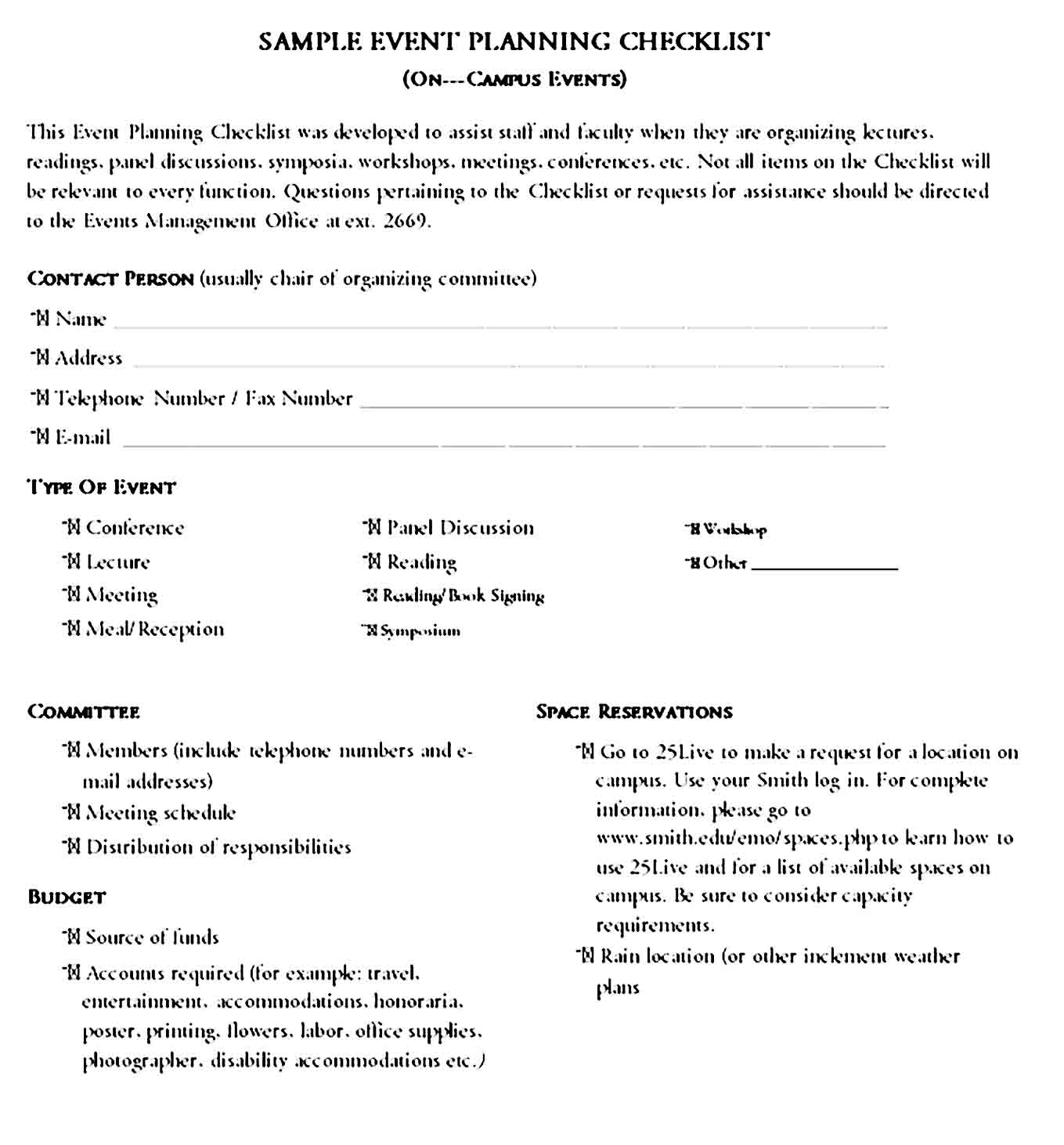 Event Planning Template 08