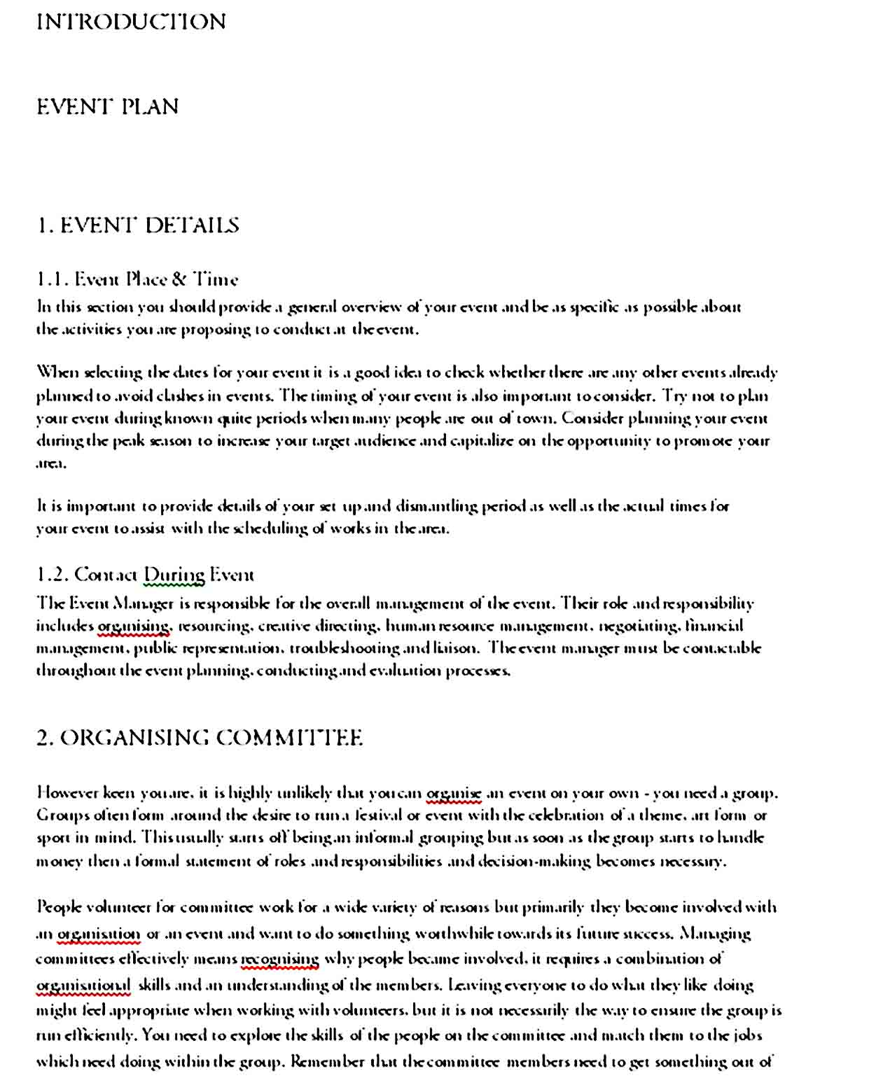Event Planning Template 09
