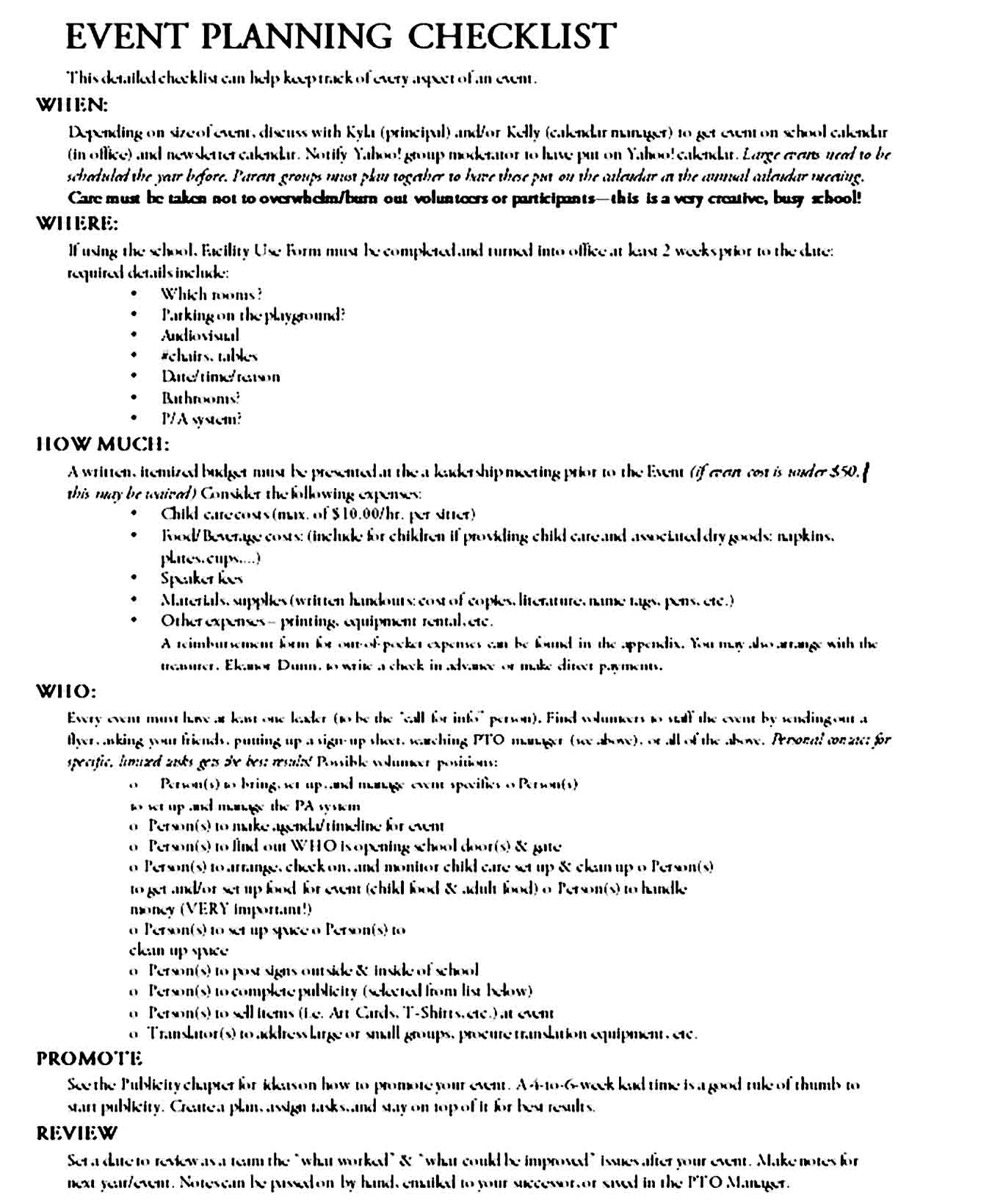 Event Planning Template 13