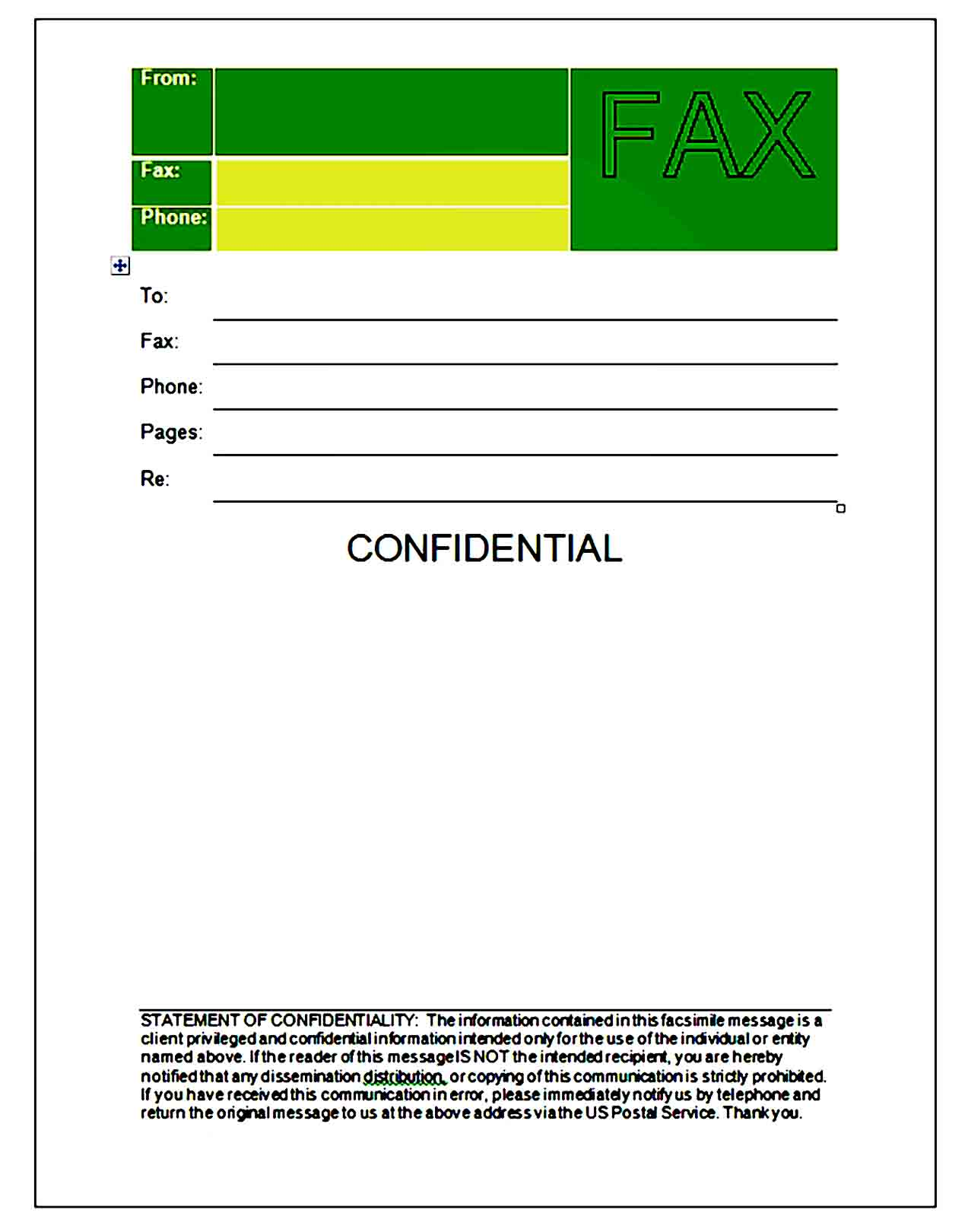 Fax Cover Sheet Template 02