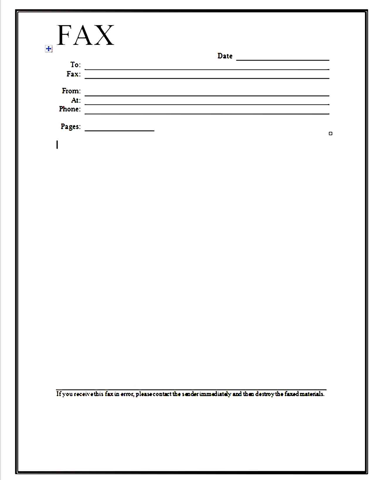 Fax Cover Sheet Template 05