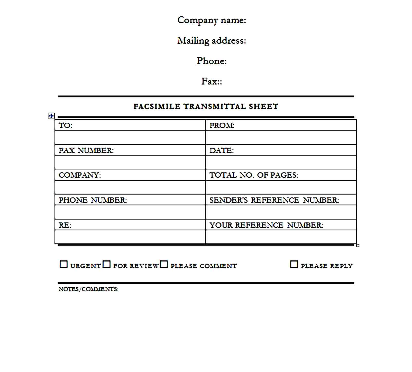 Fax Cover Sheet Template 13
