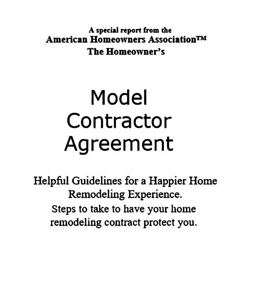 General Home Contractor Agreement
