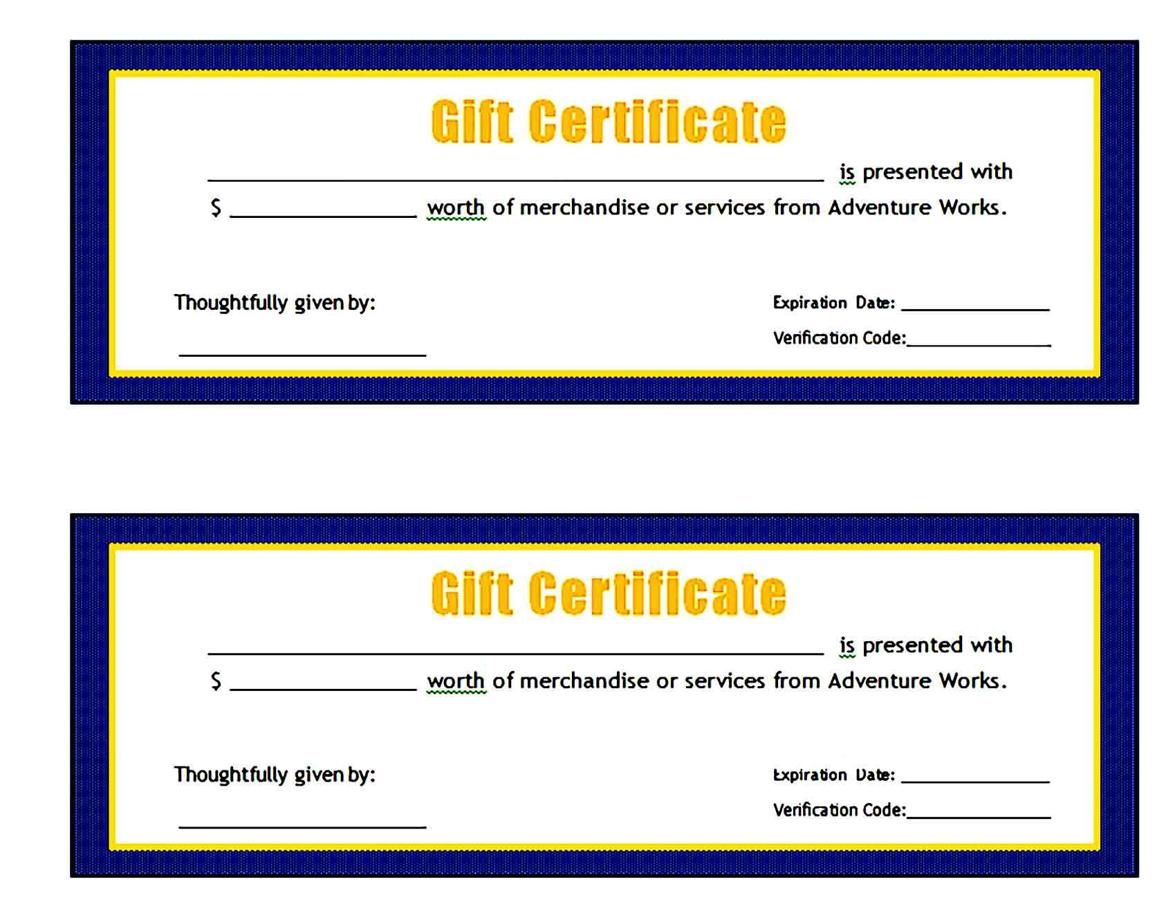 Gift Certificate Template 21