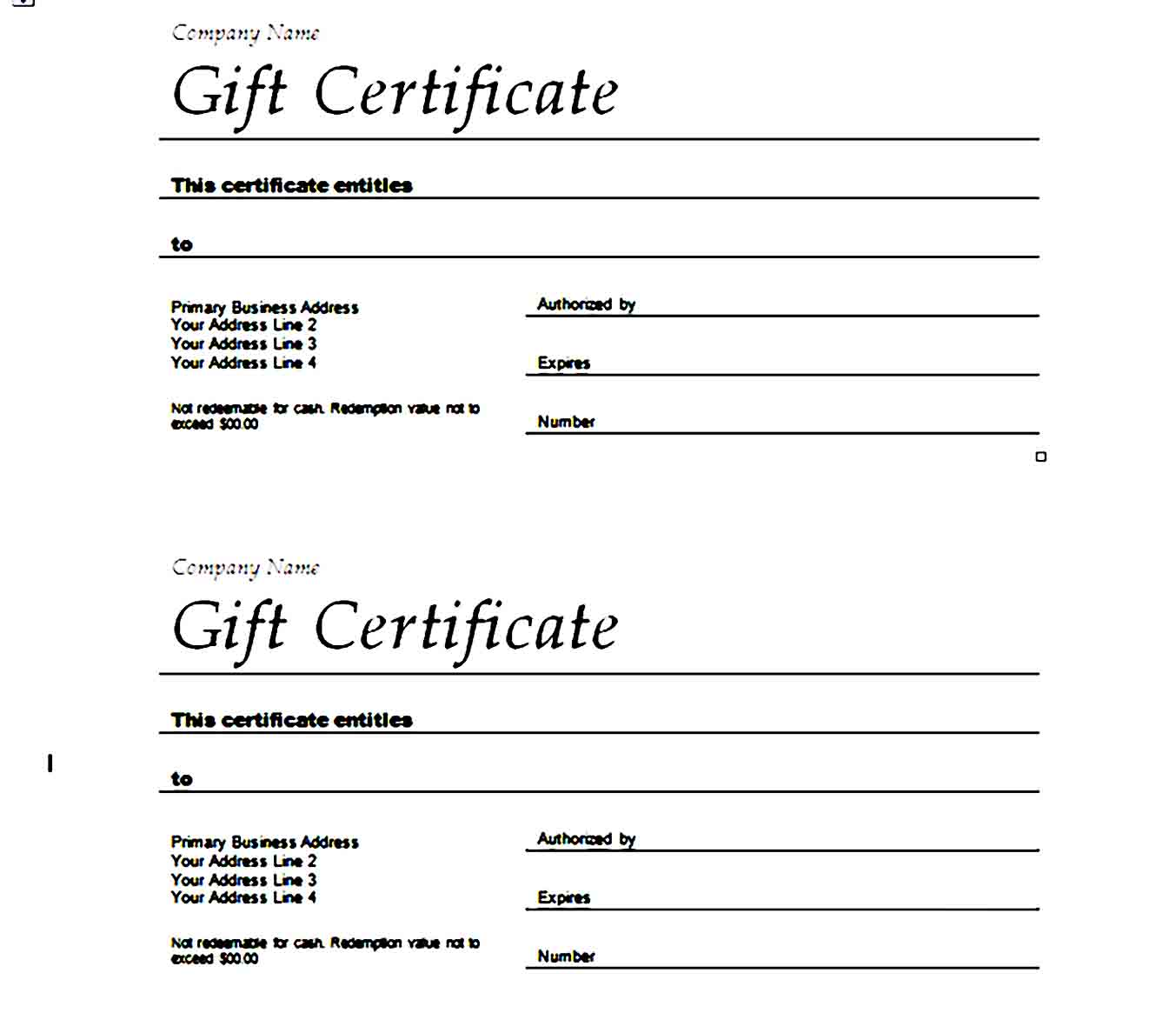 Gift Certificate Template 23