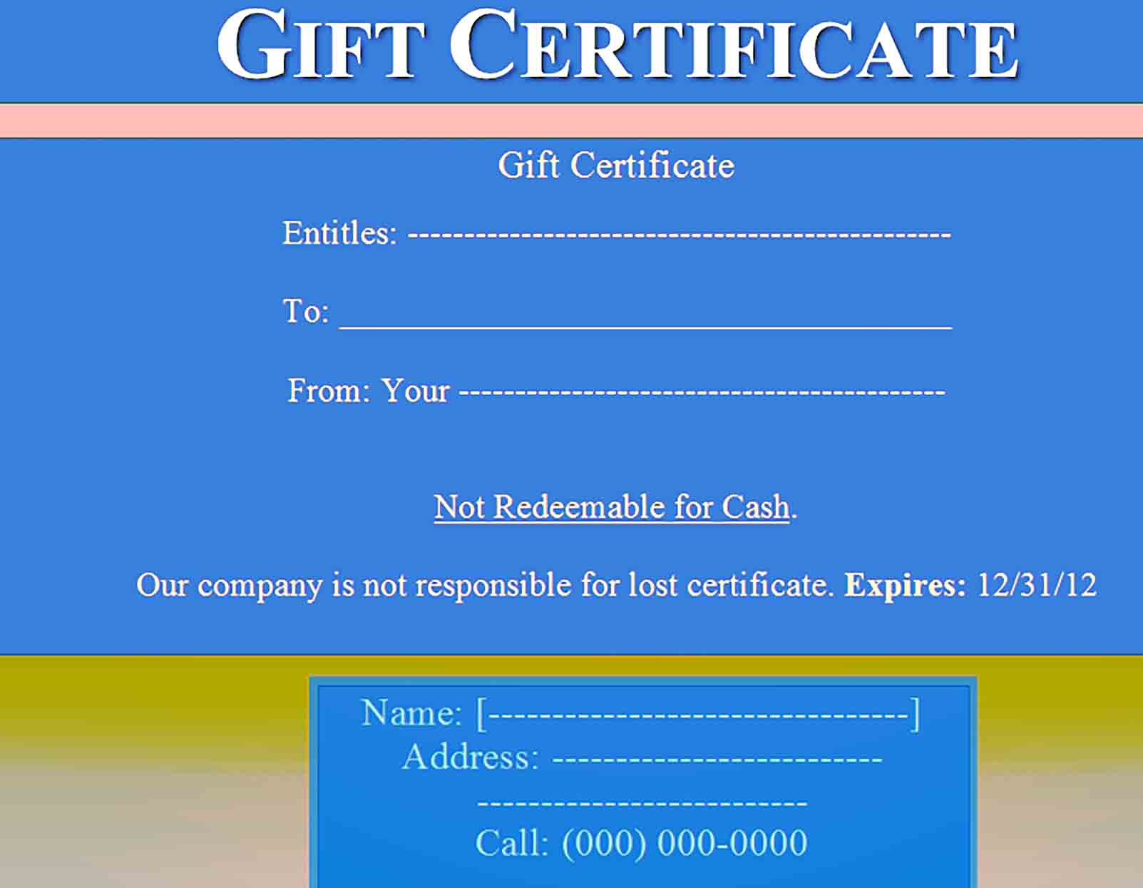 Gift Certificate Template 28