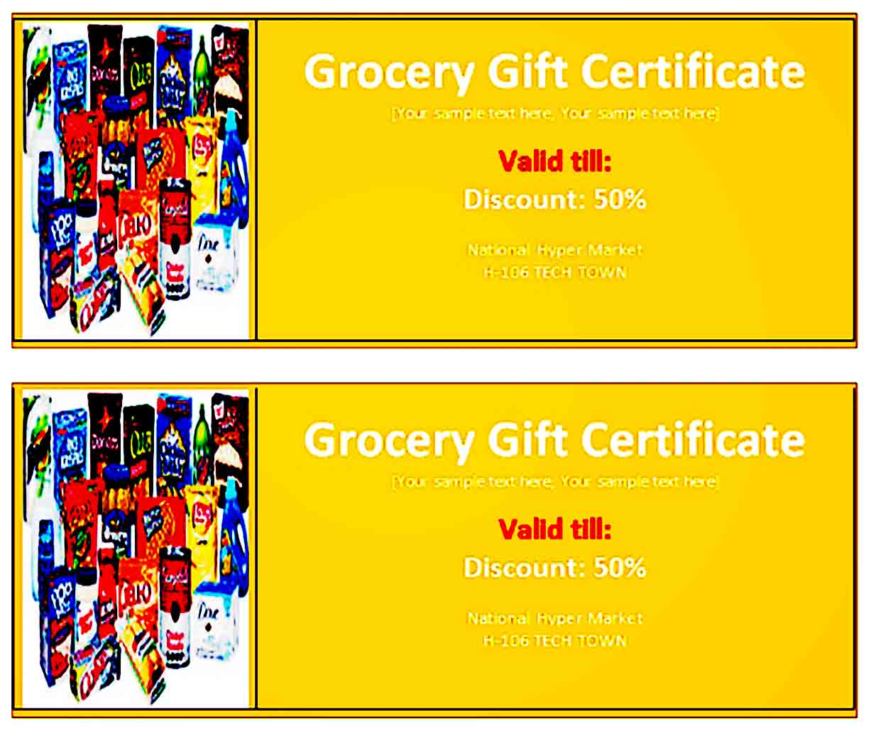 Gift Certificate Template 29