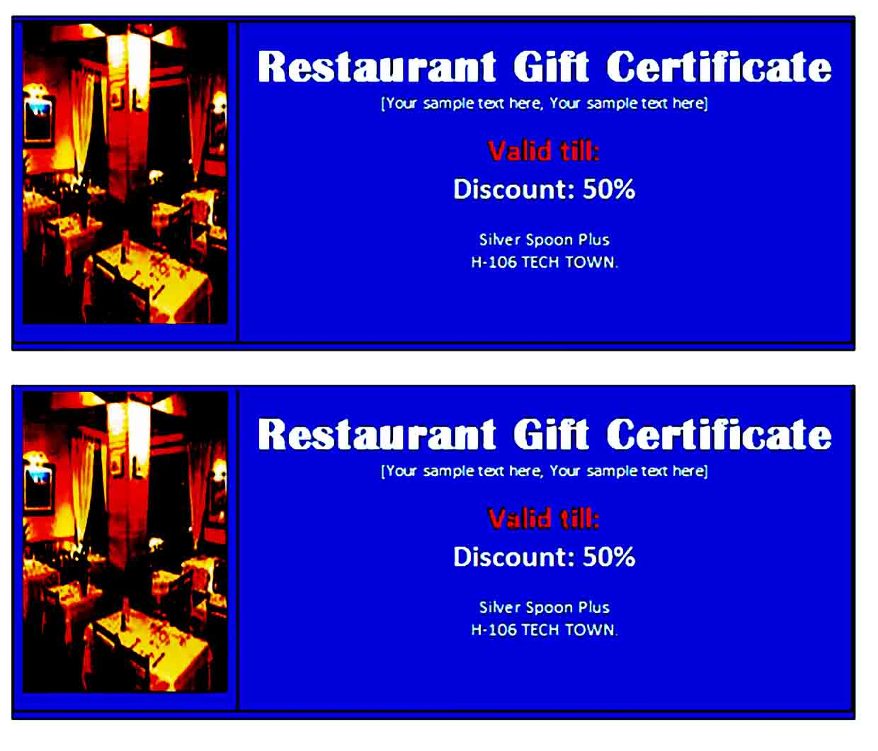 Gift Certificate Template 30