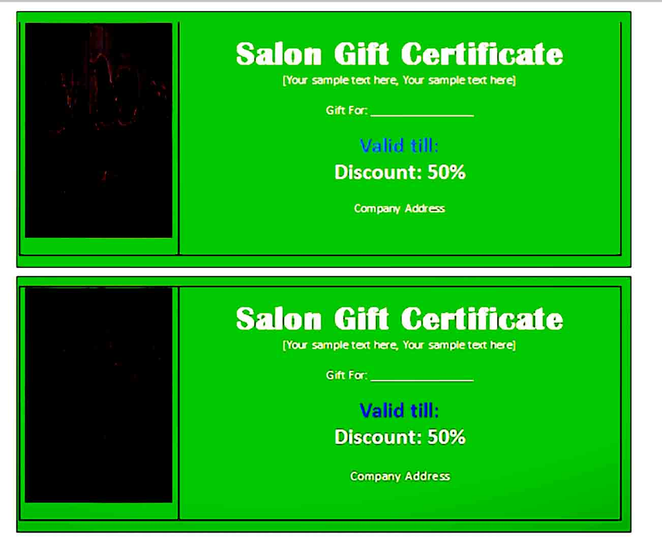 Gift Certificate Template 33