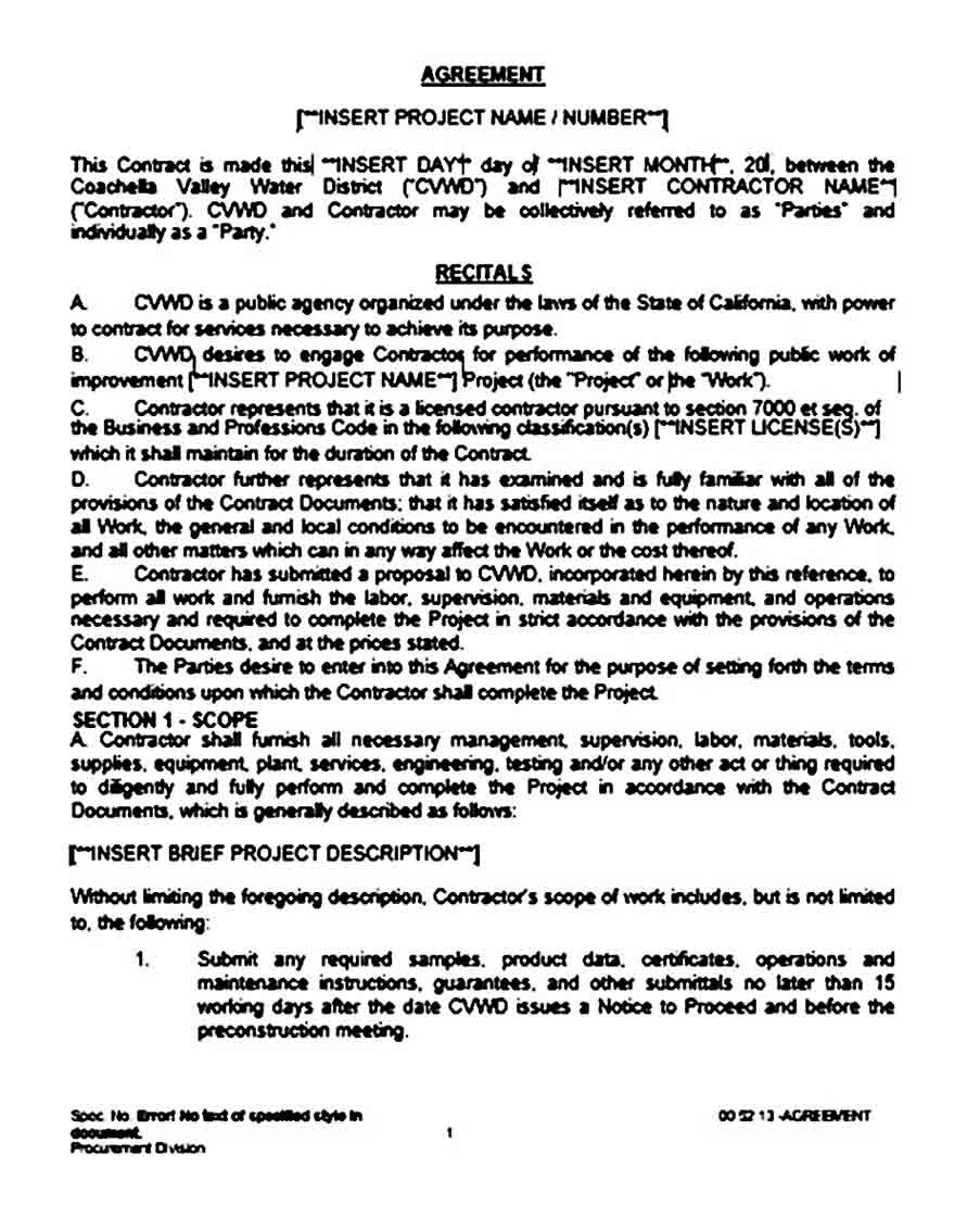 Project Contract Agreement