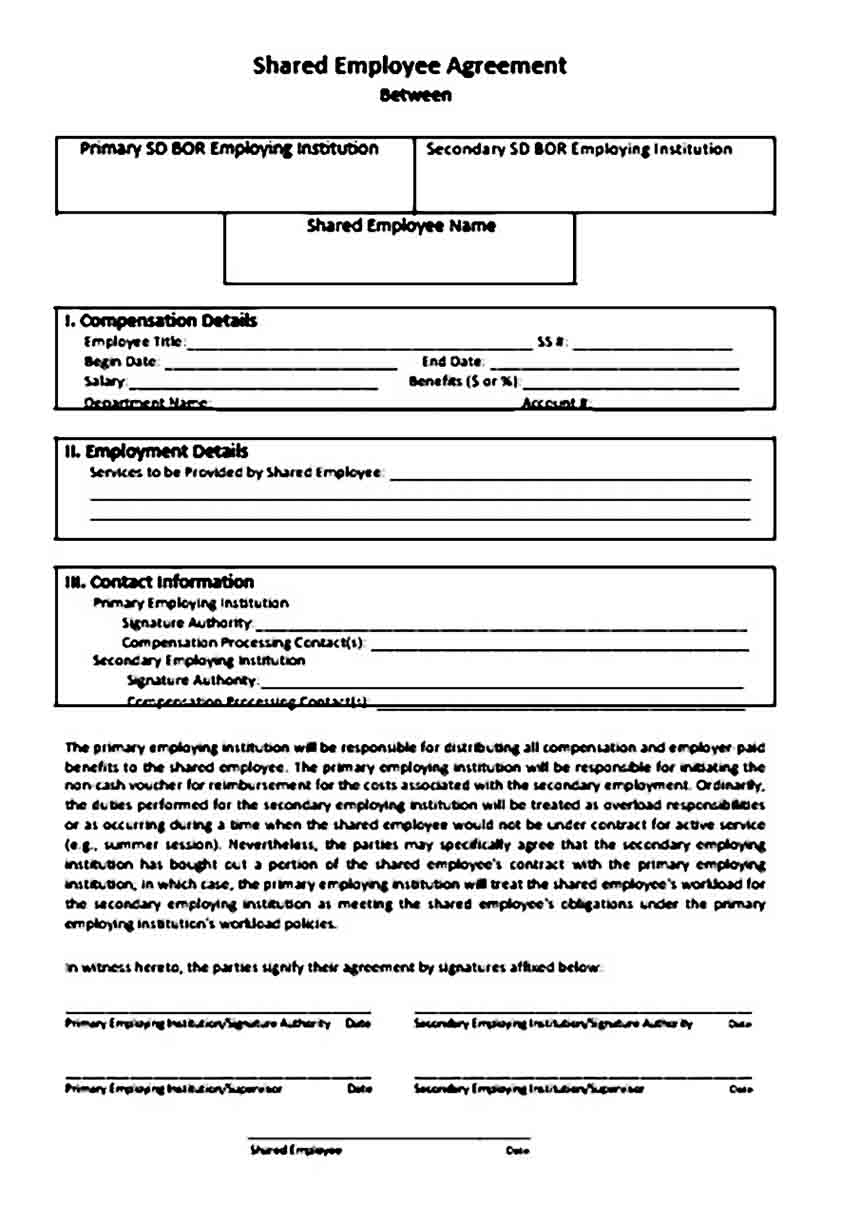 Shared Employee Contract