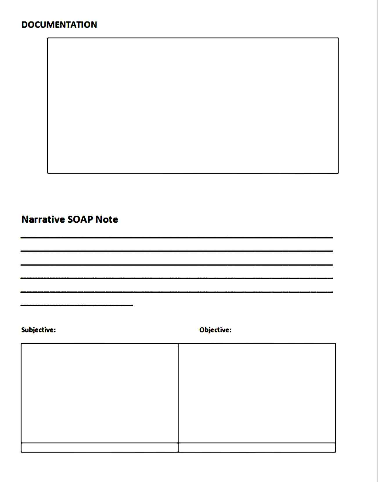 Soap Note Template 05
