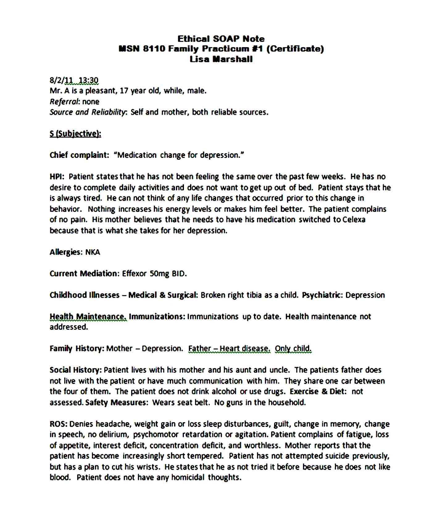Soap Note Template 06