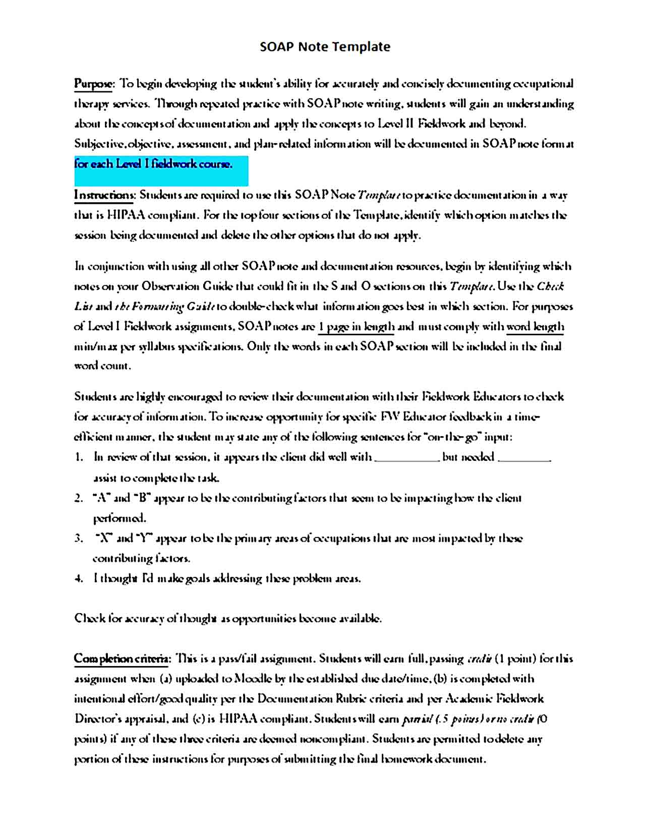 Soap Note Template 13