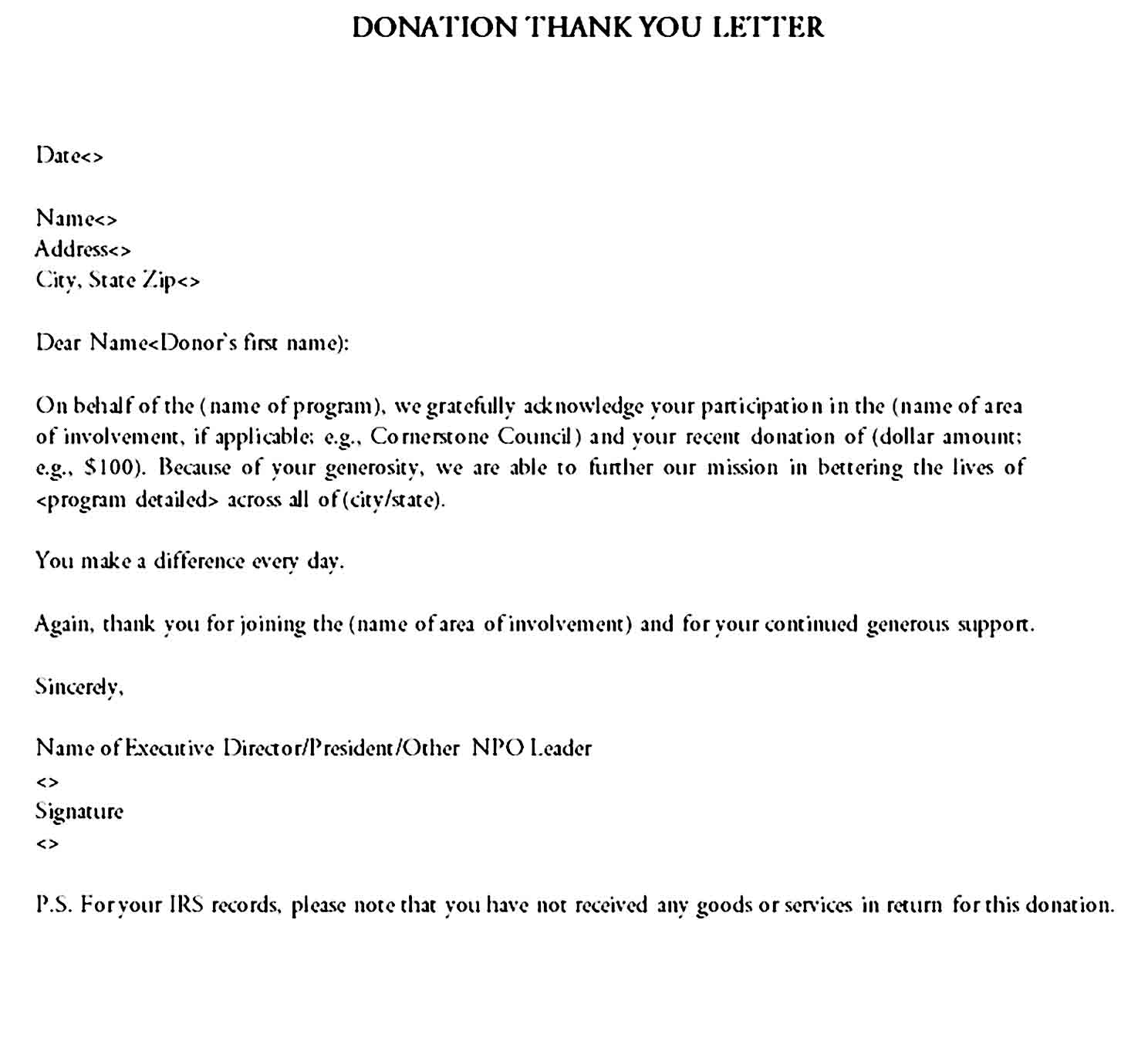 Thank you letter 14