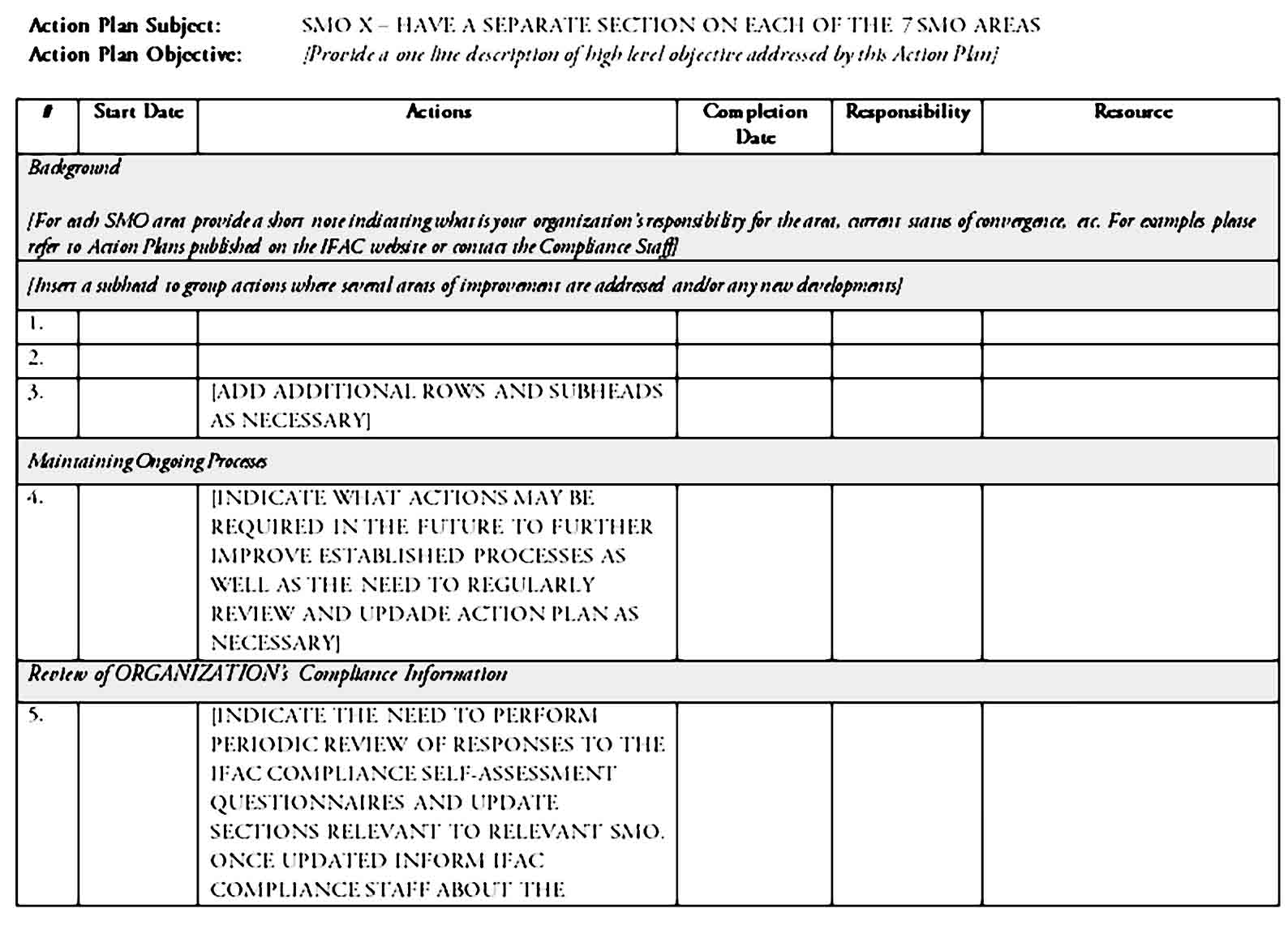 action plan template 30