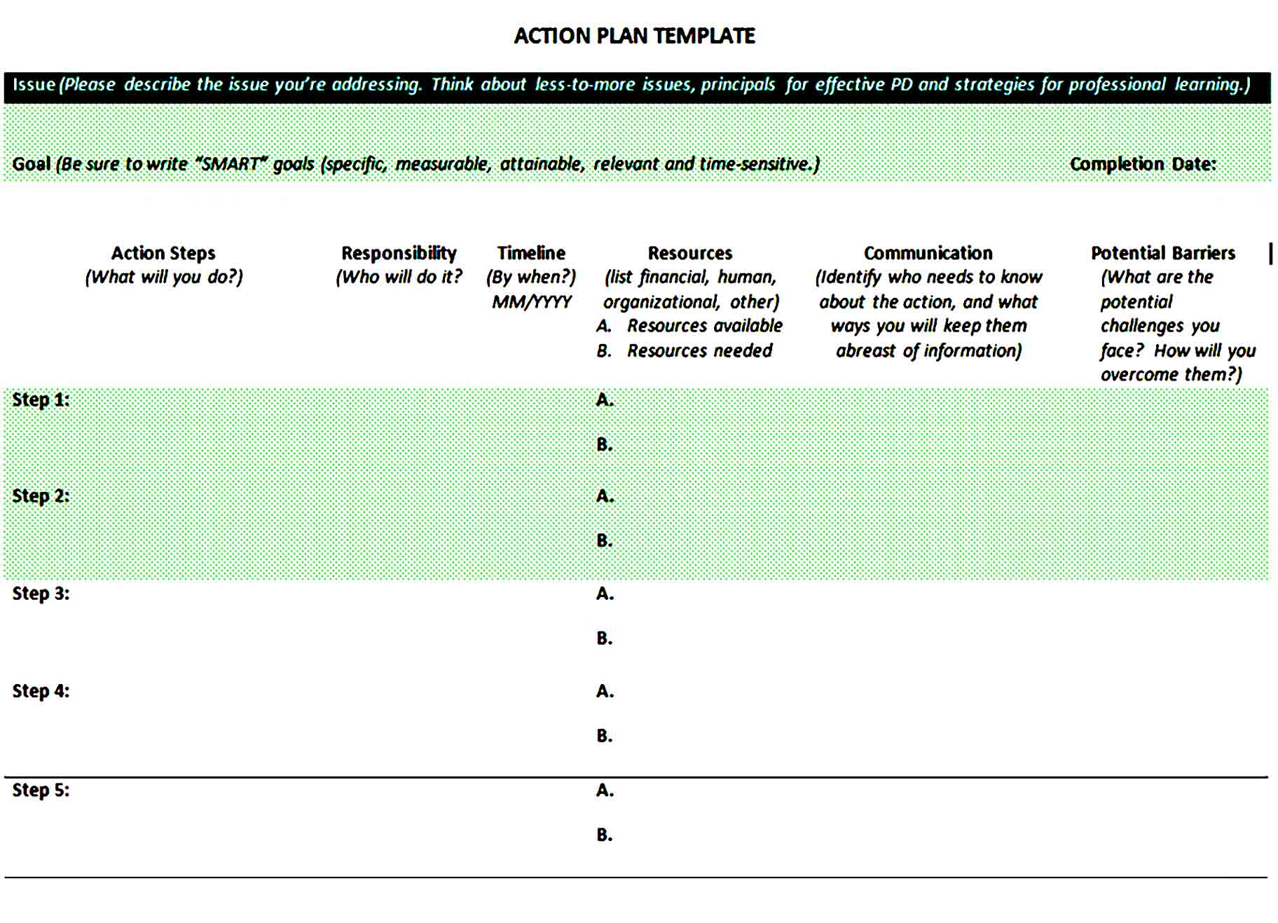 action plan template 31