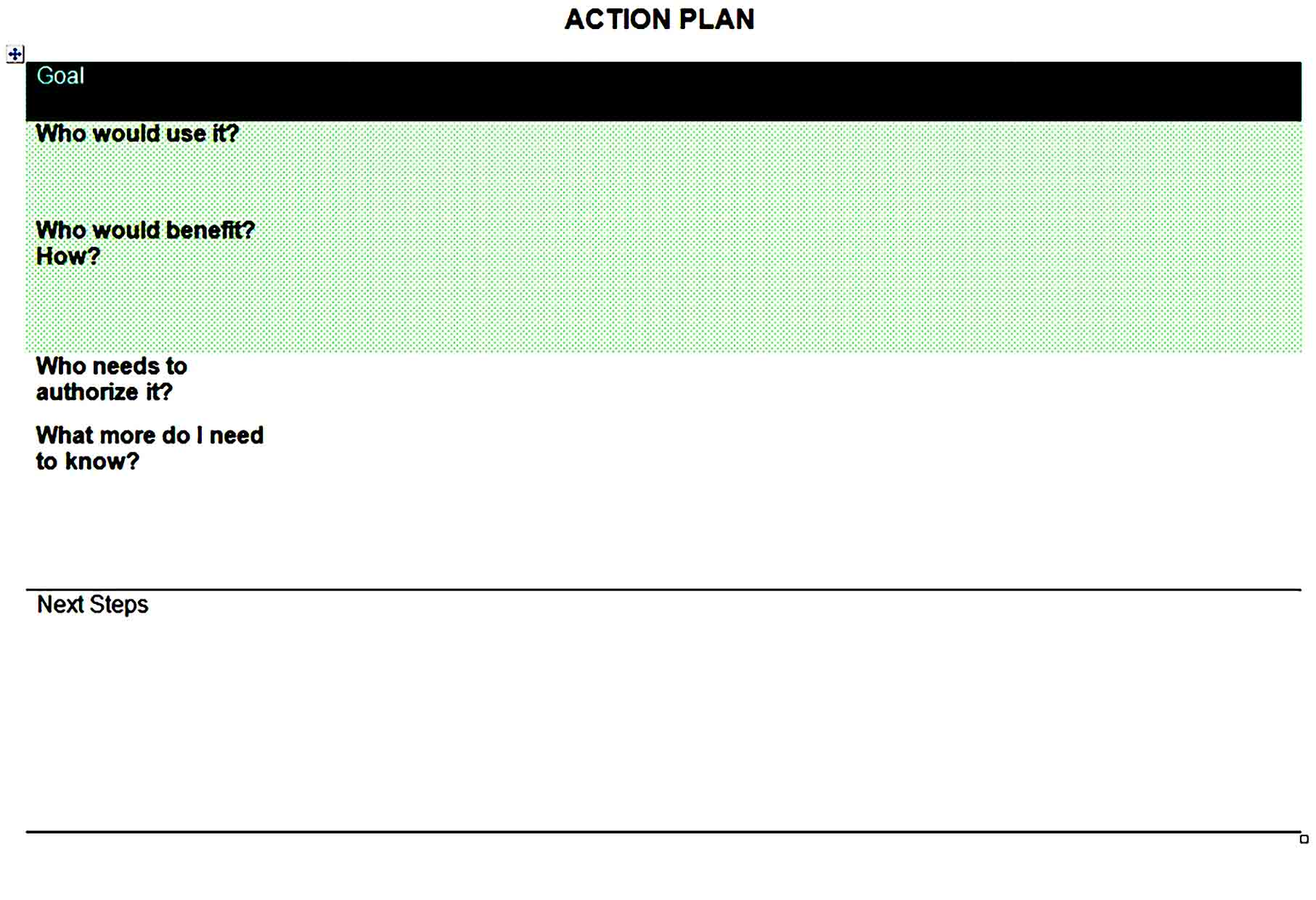 action plan template 34
