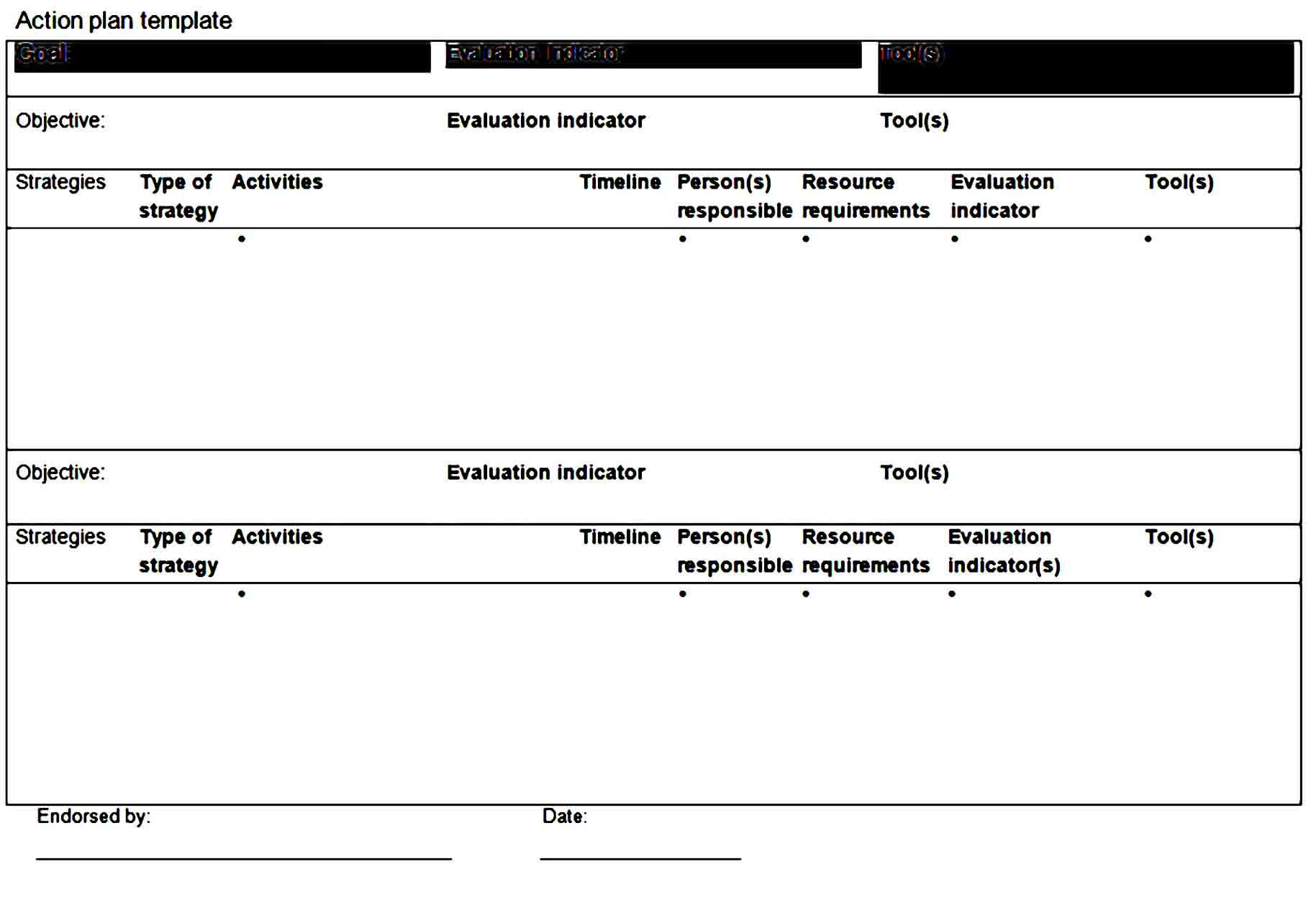 action plan template 36
