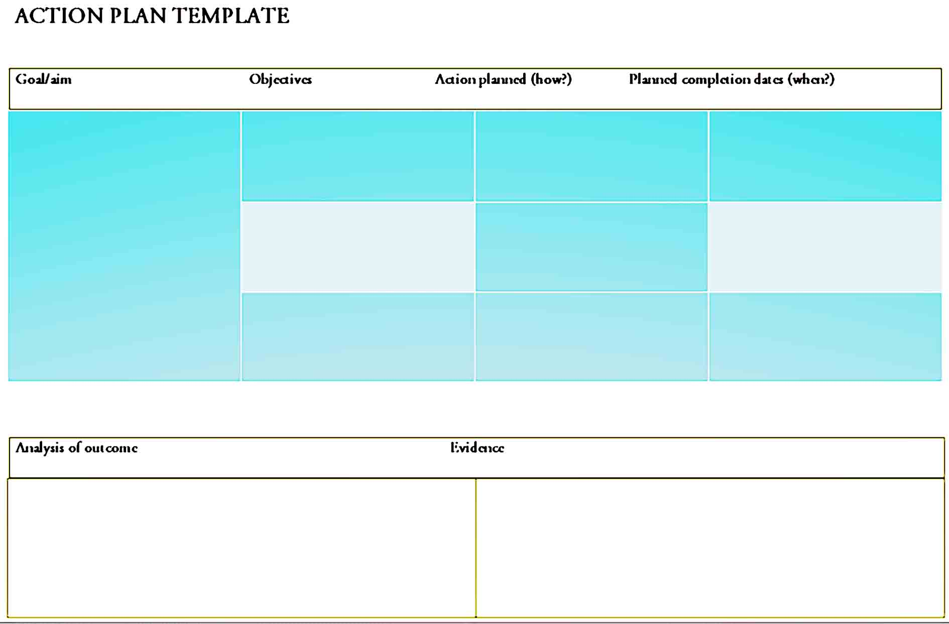 action plan template 37