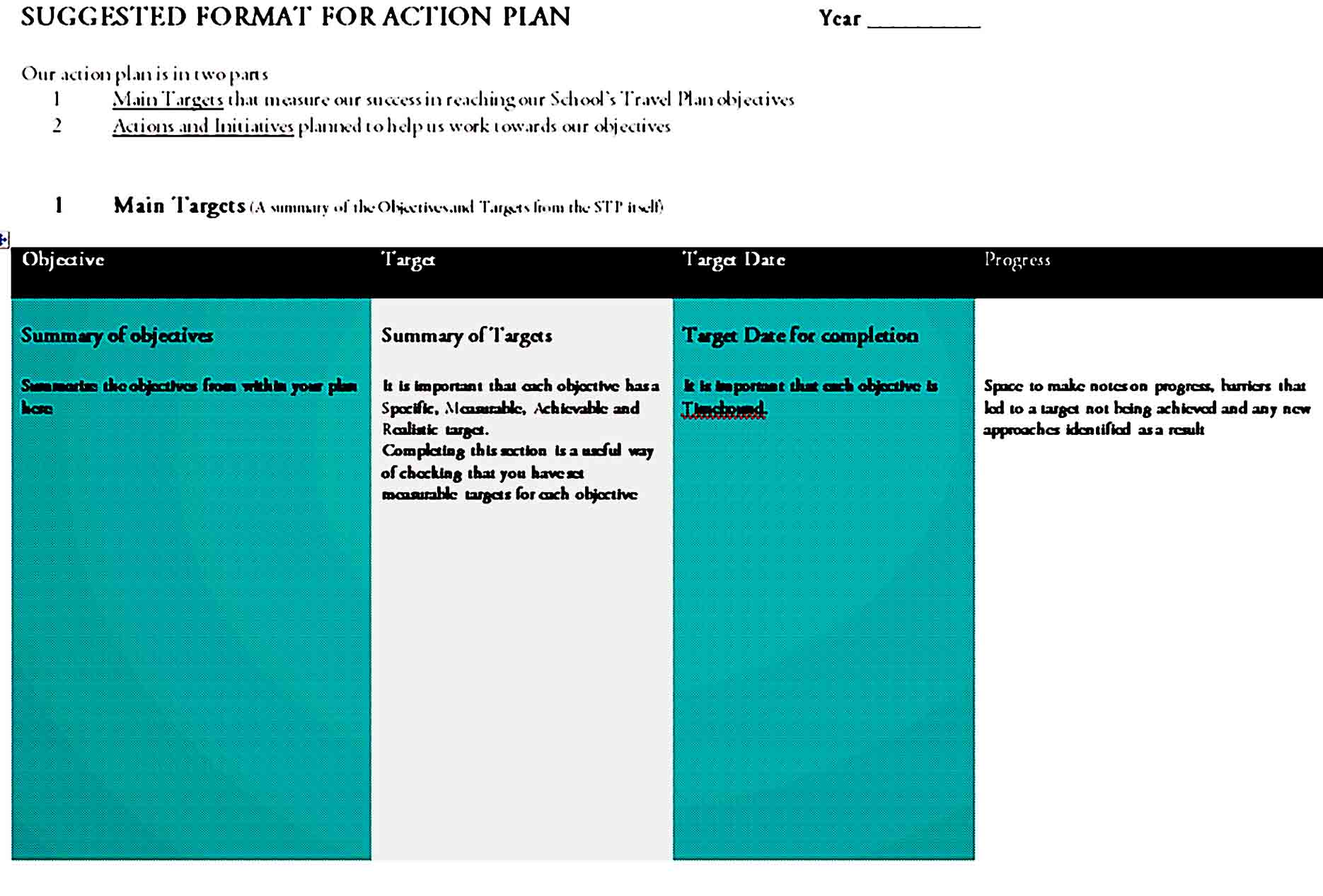 action plan template 40
