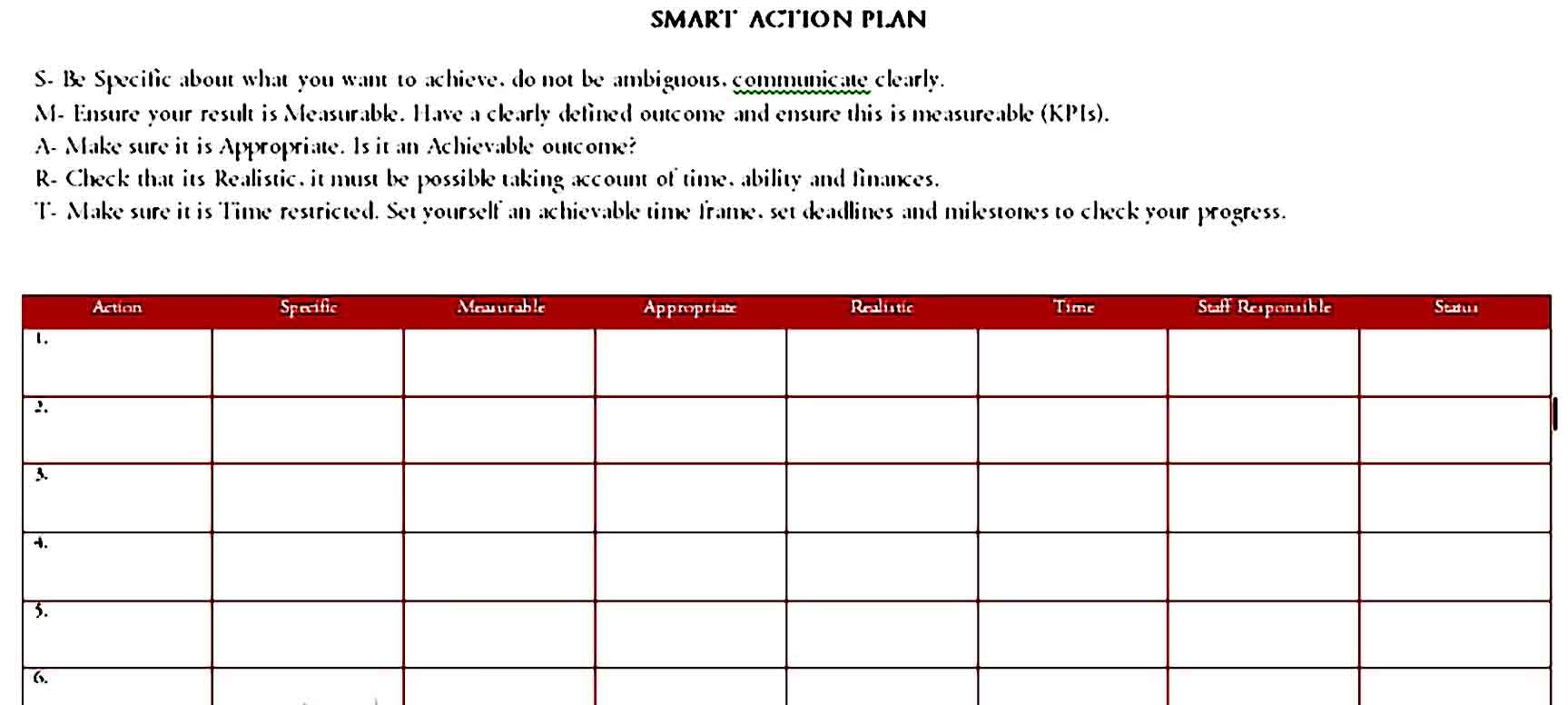 action plan template 43