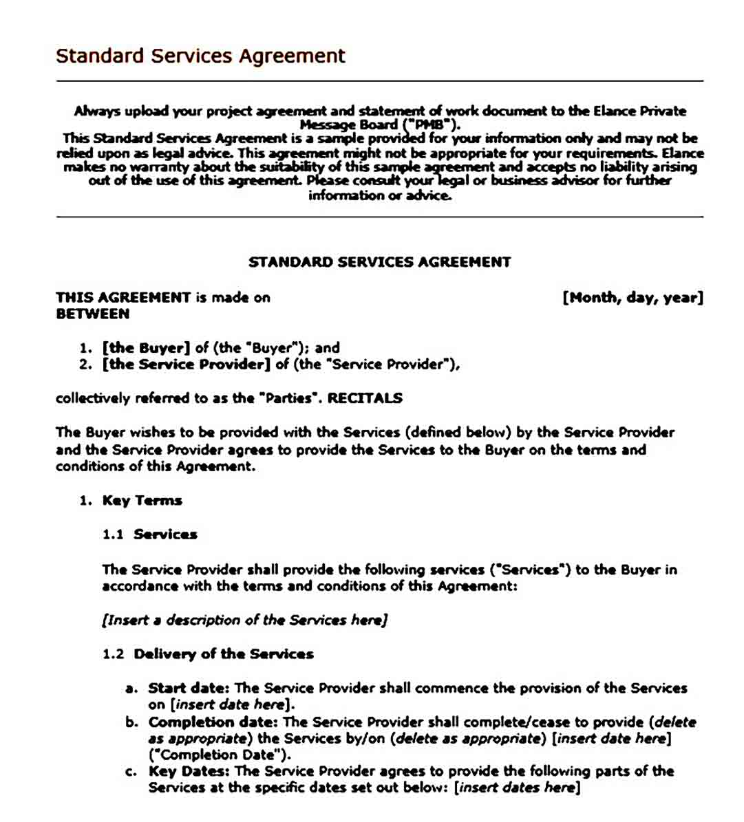contract agreement templates for services1