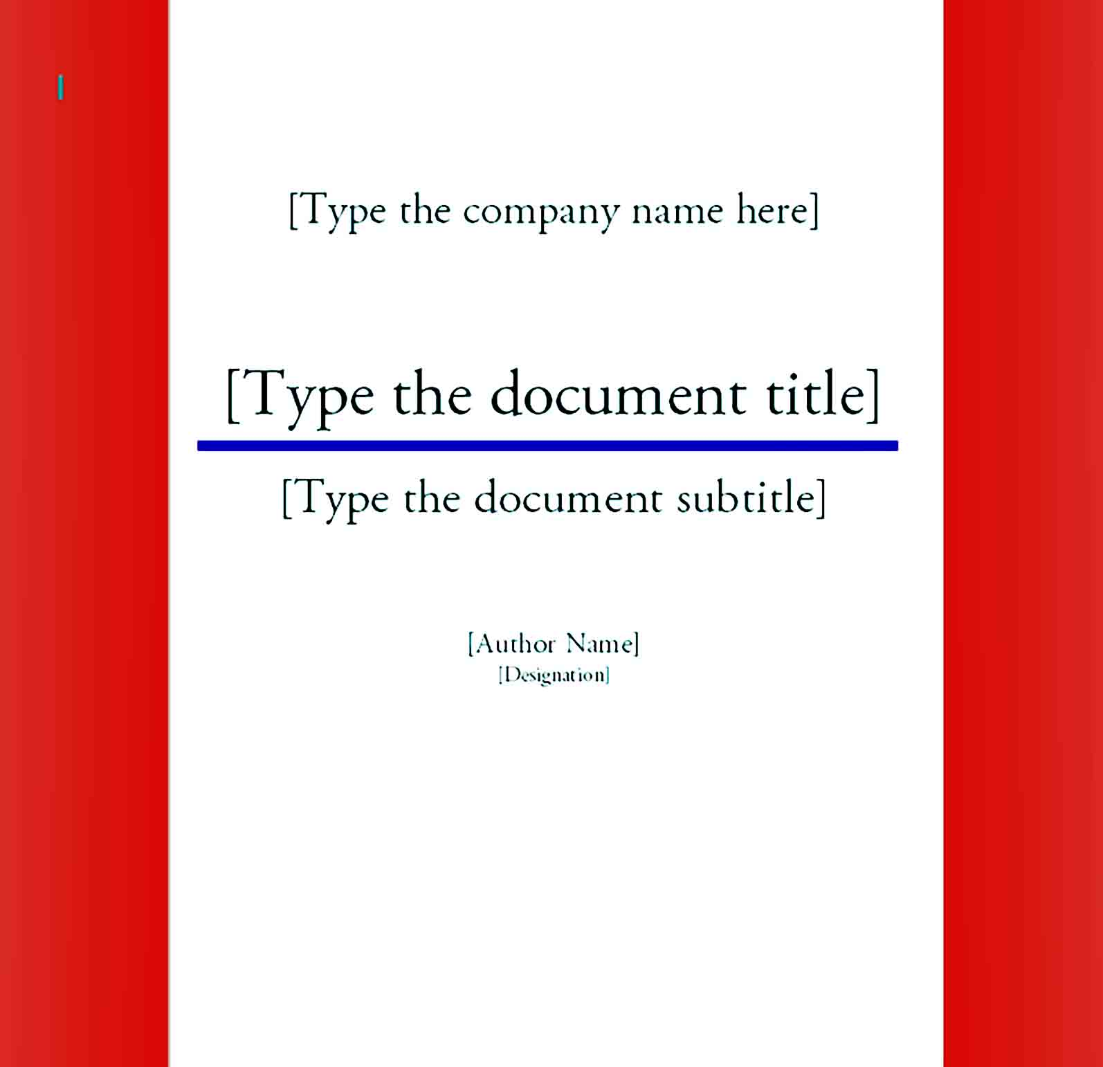 cover page template 03