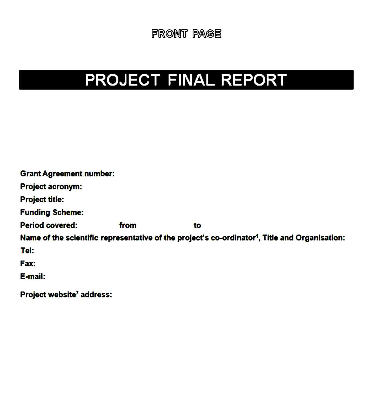 cover page template 11