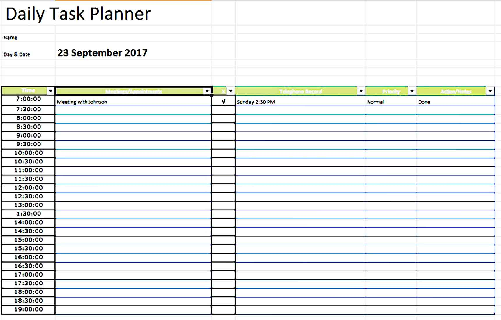 daily planner template 19