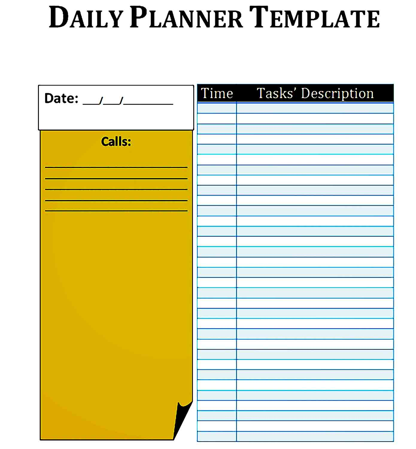 daily planner template 20