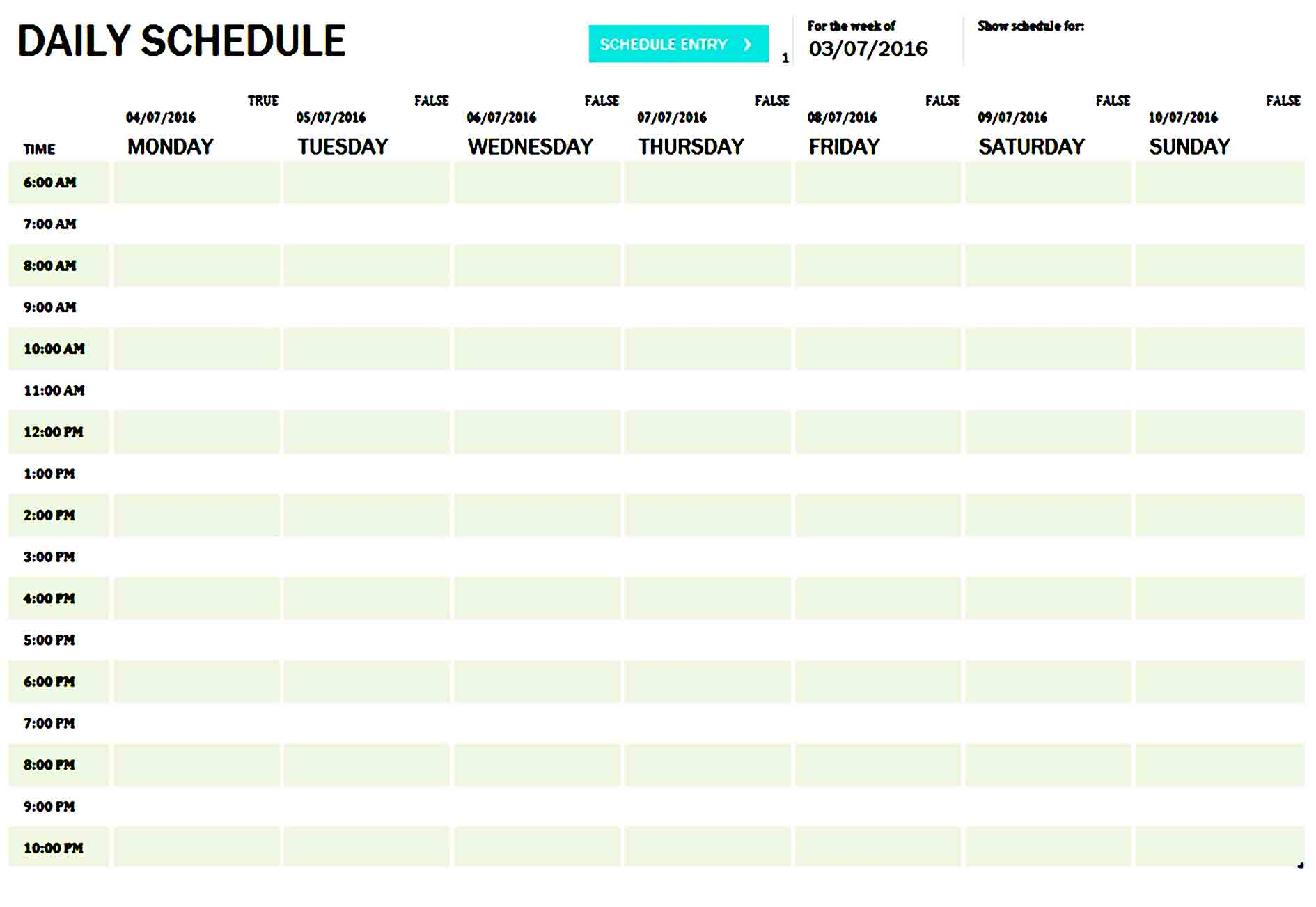 daily planner template 23