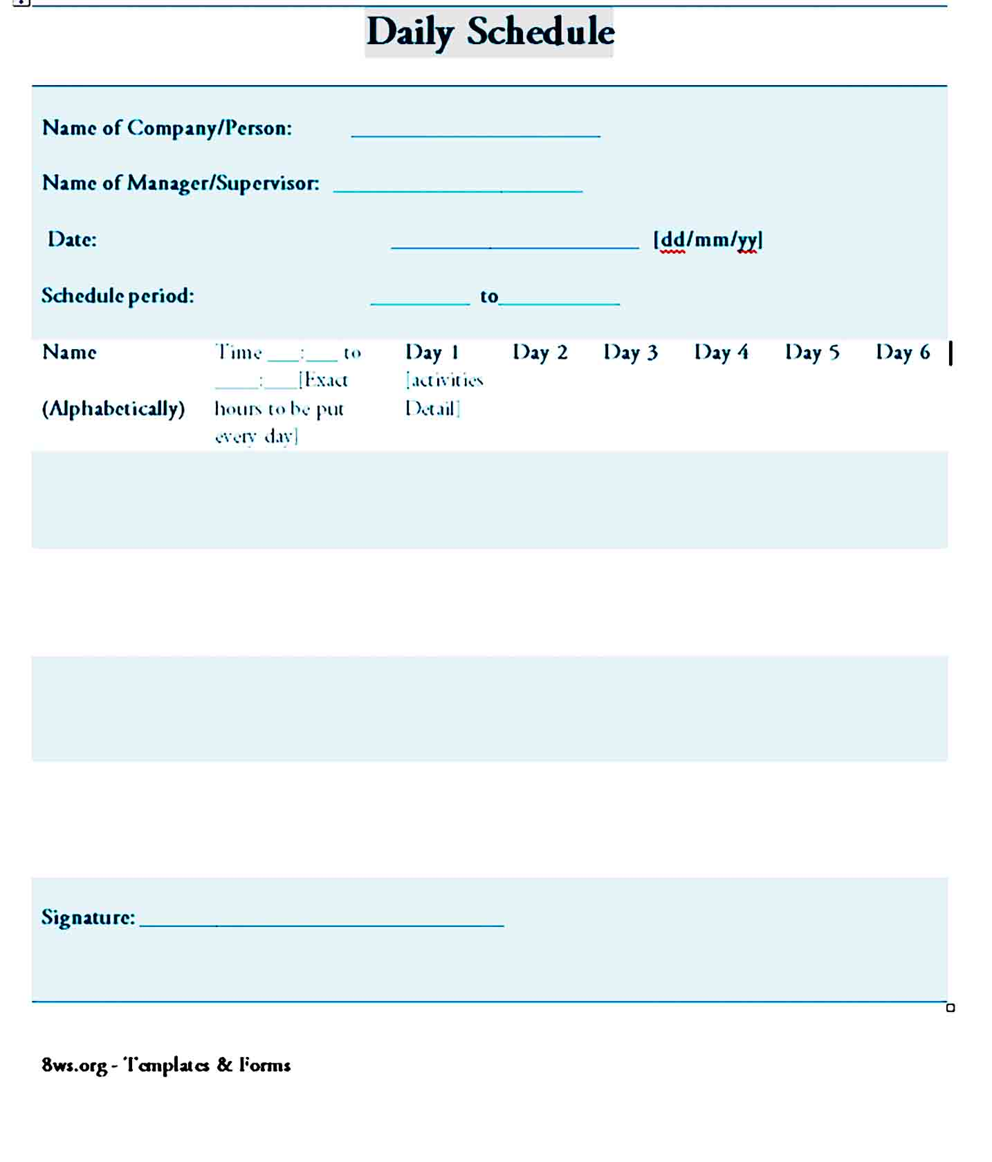 daily planner template 25