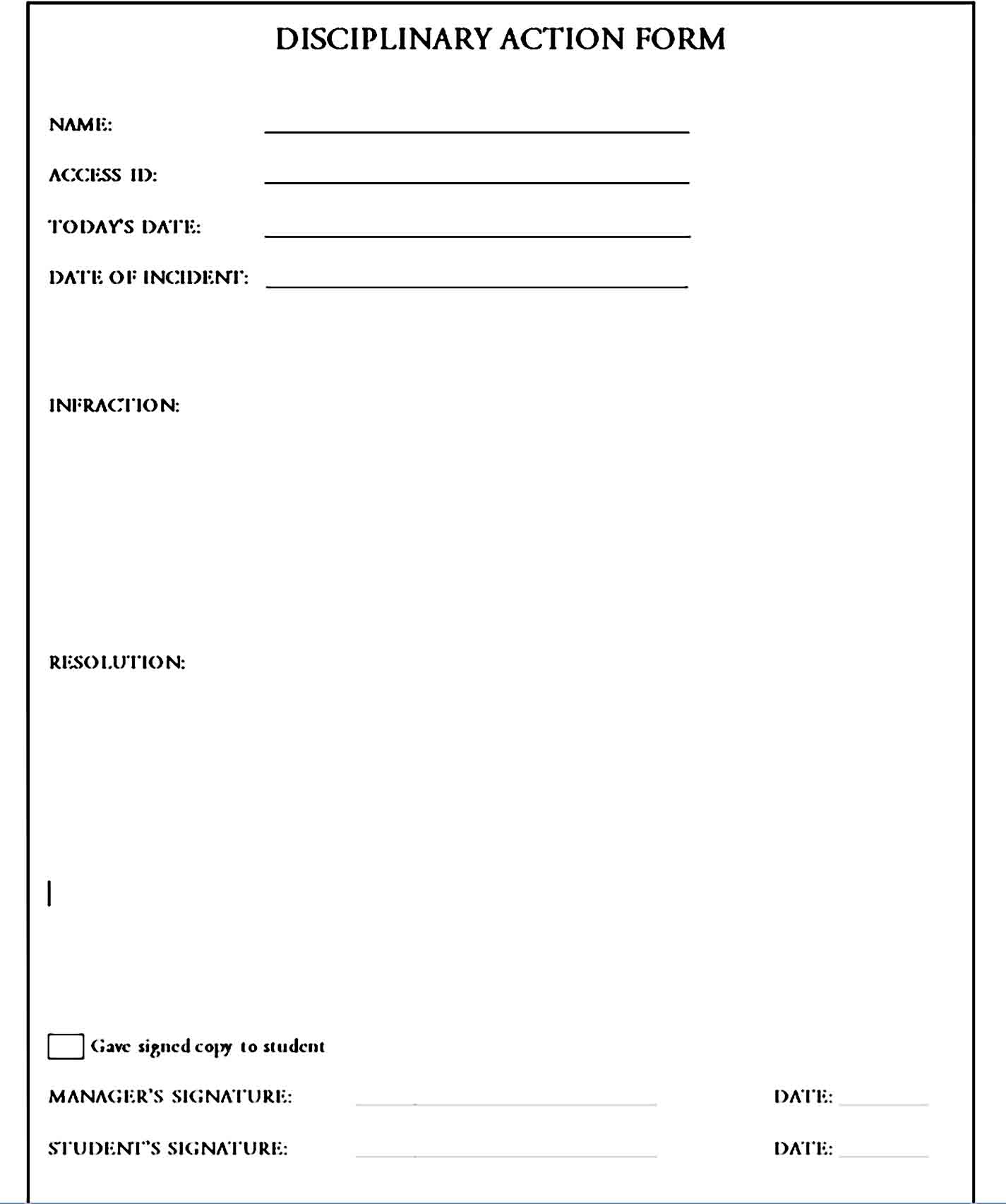 employee write up form 29
