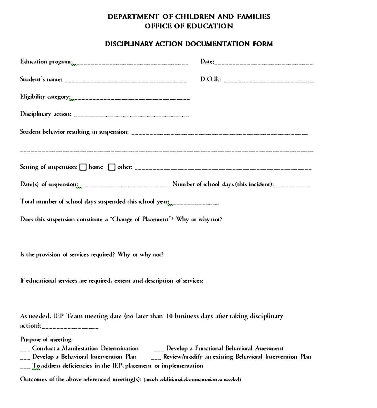 employee write up form 37