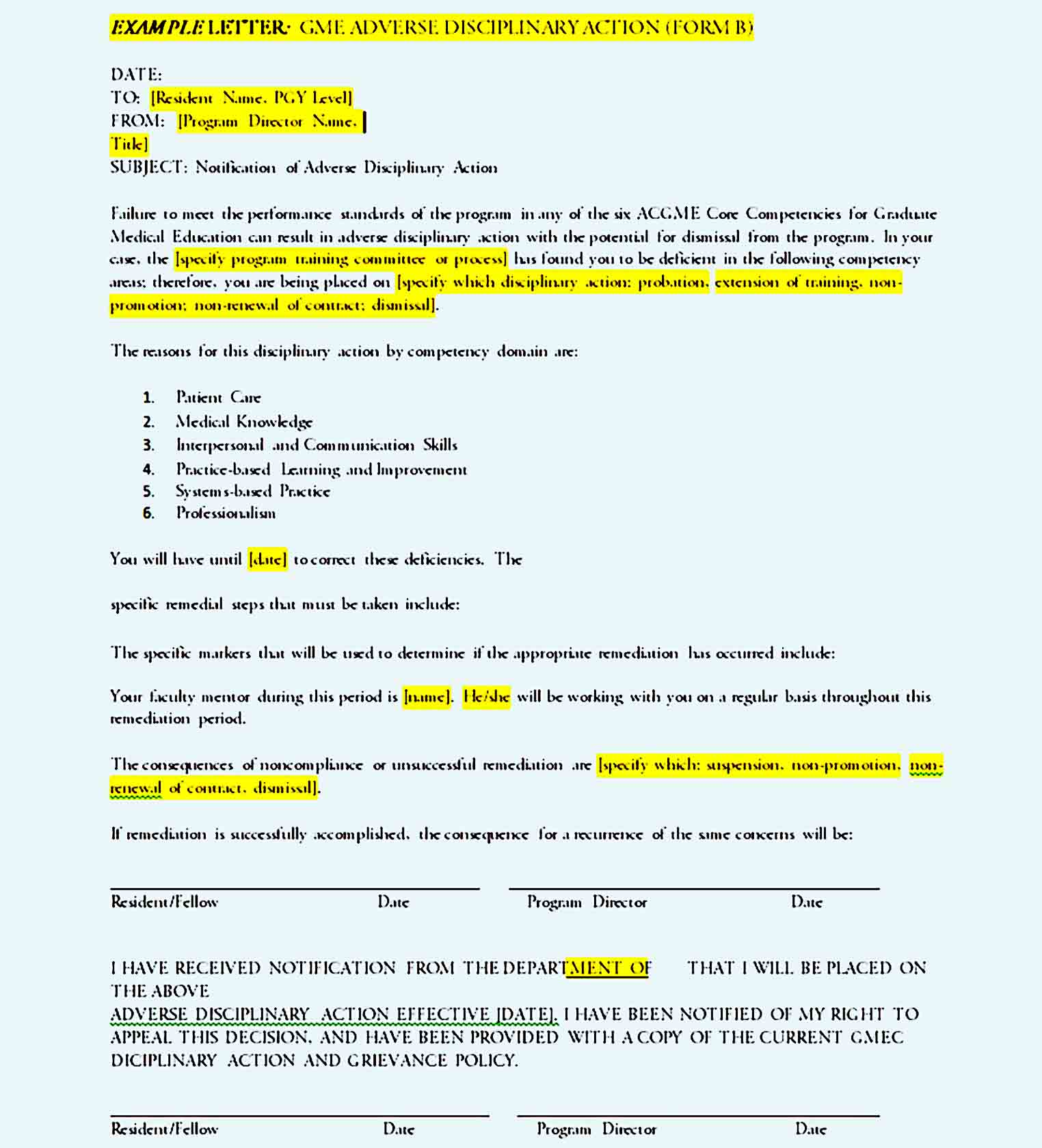 employee write up form 42
