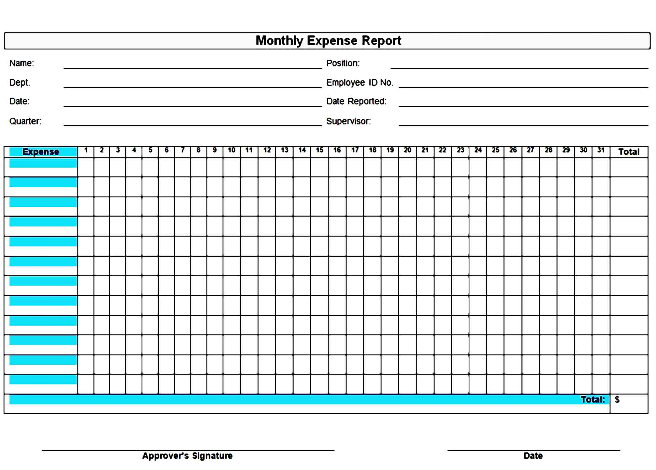 expense report template 35