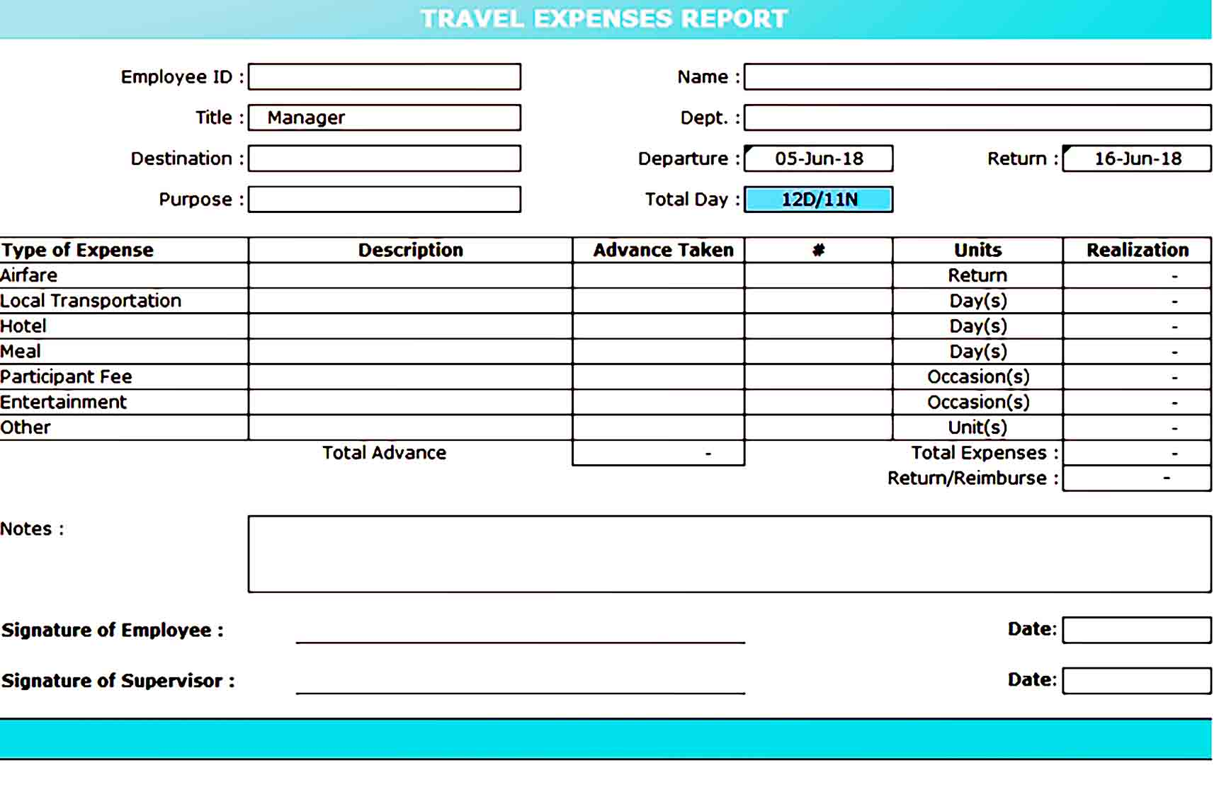 expense report template 38