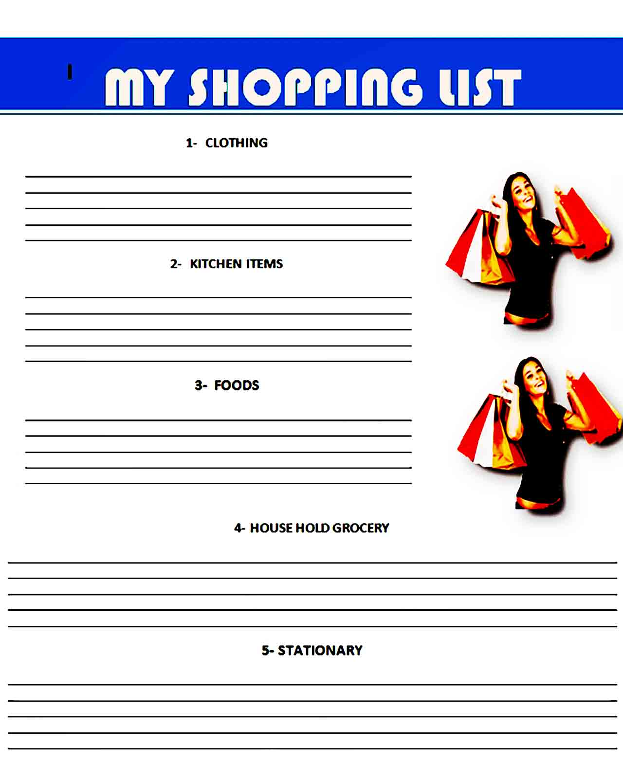 grocery list template 31