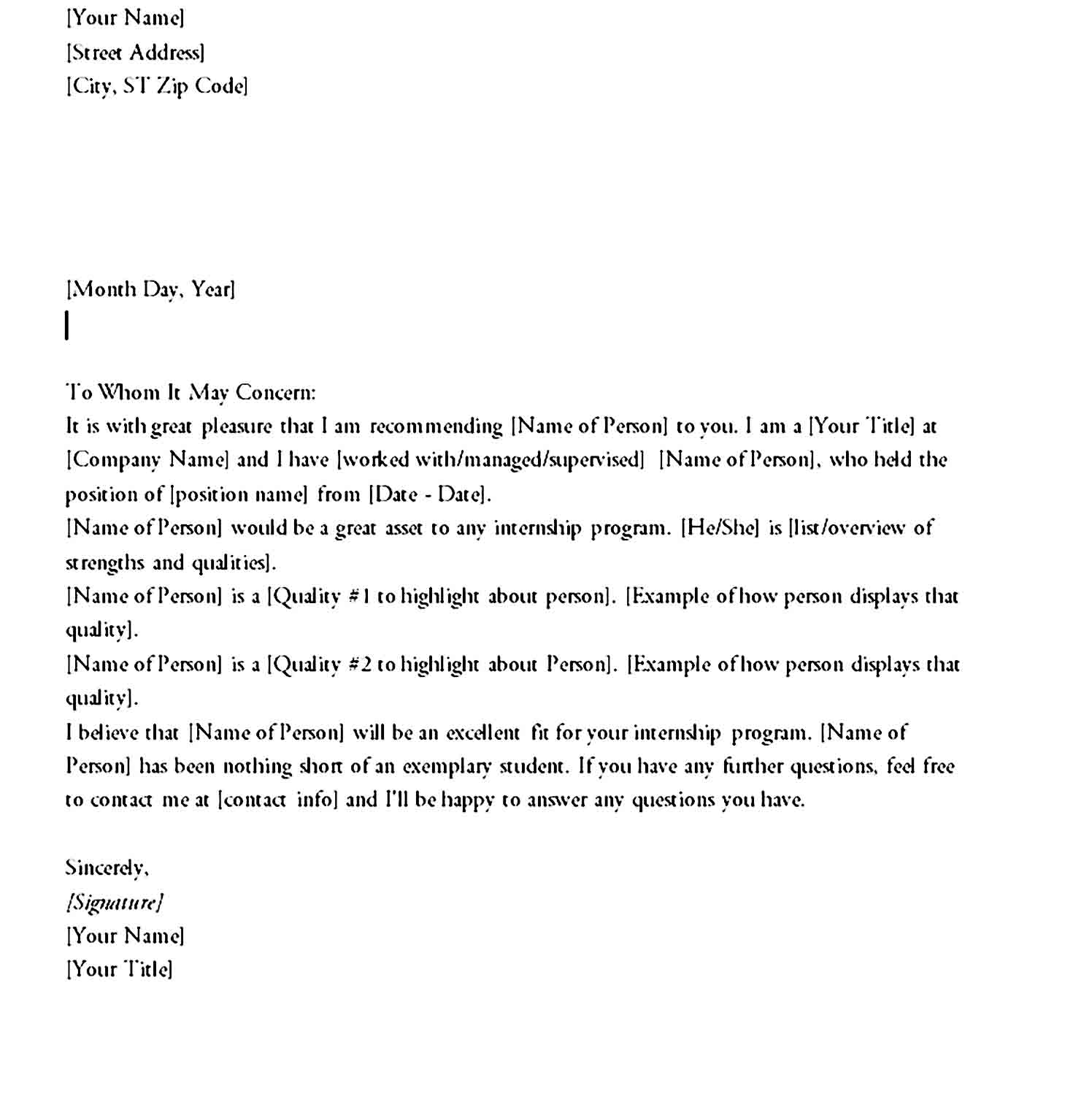 letter of recommendation 09