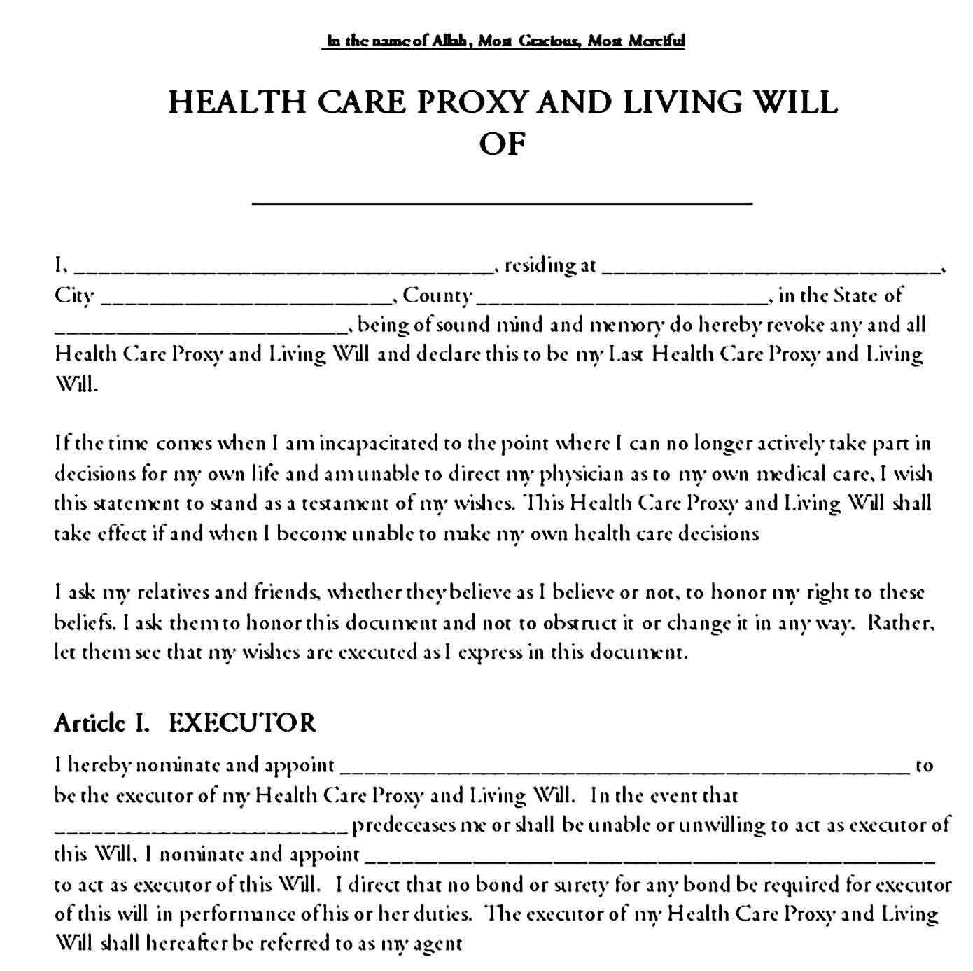 living will template 11