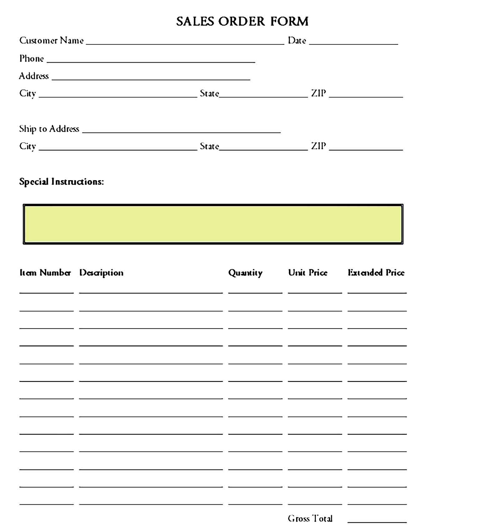 order form template 12