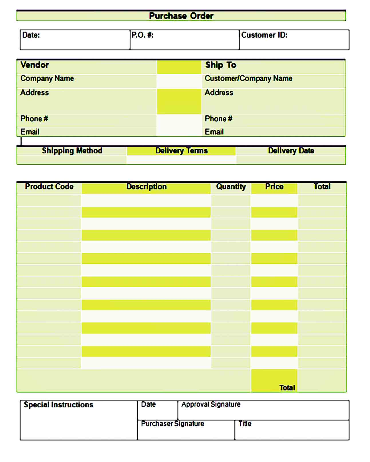 order form template 13