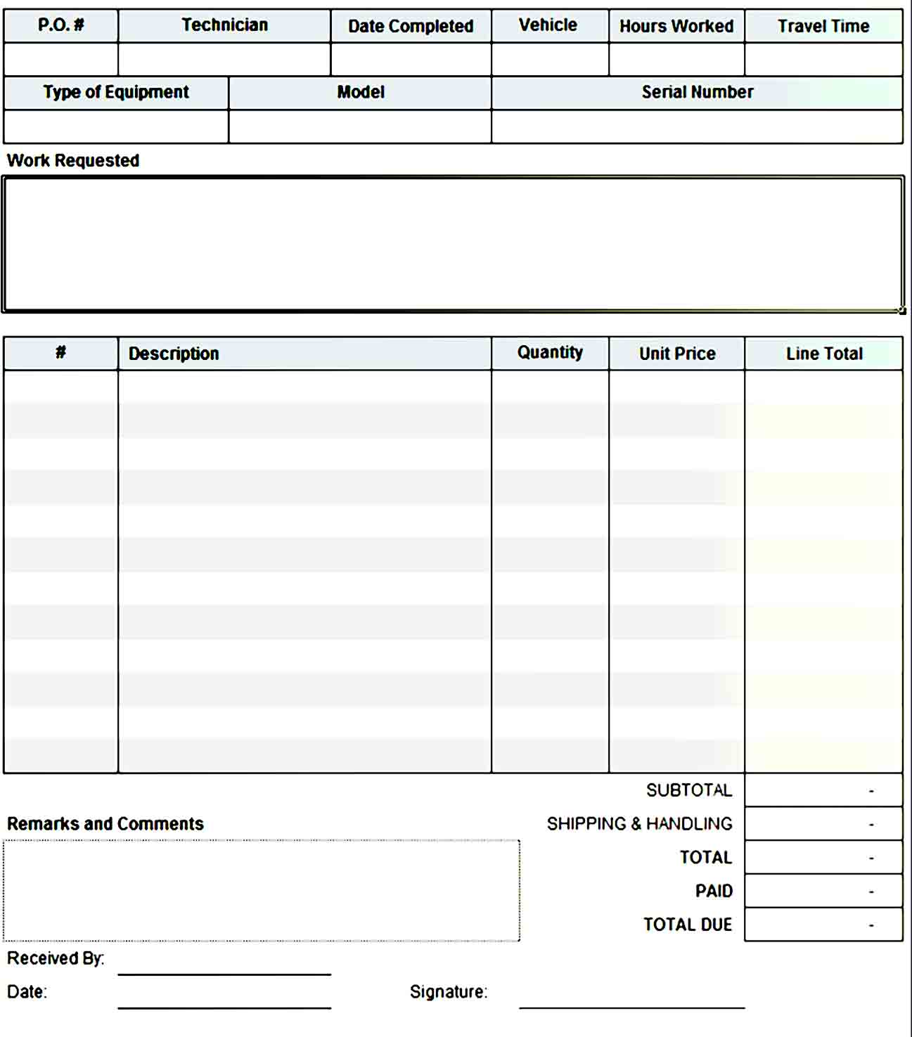 order form template 41
