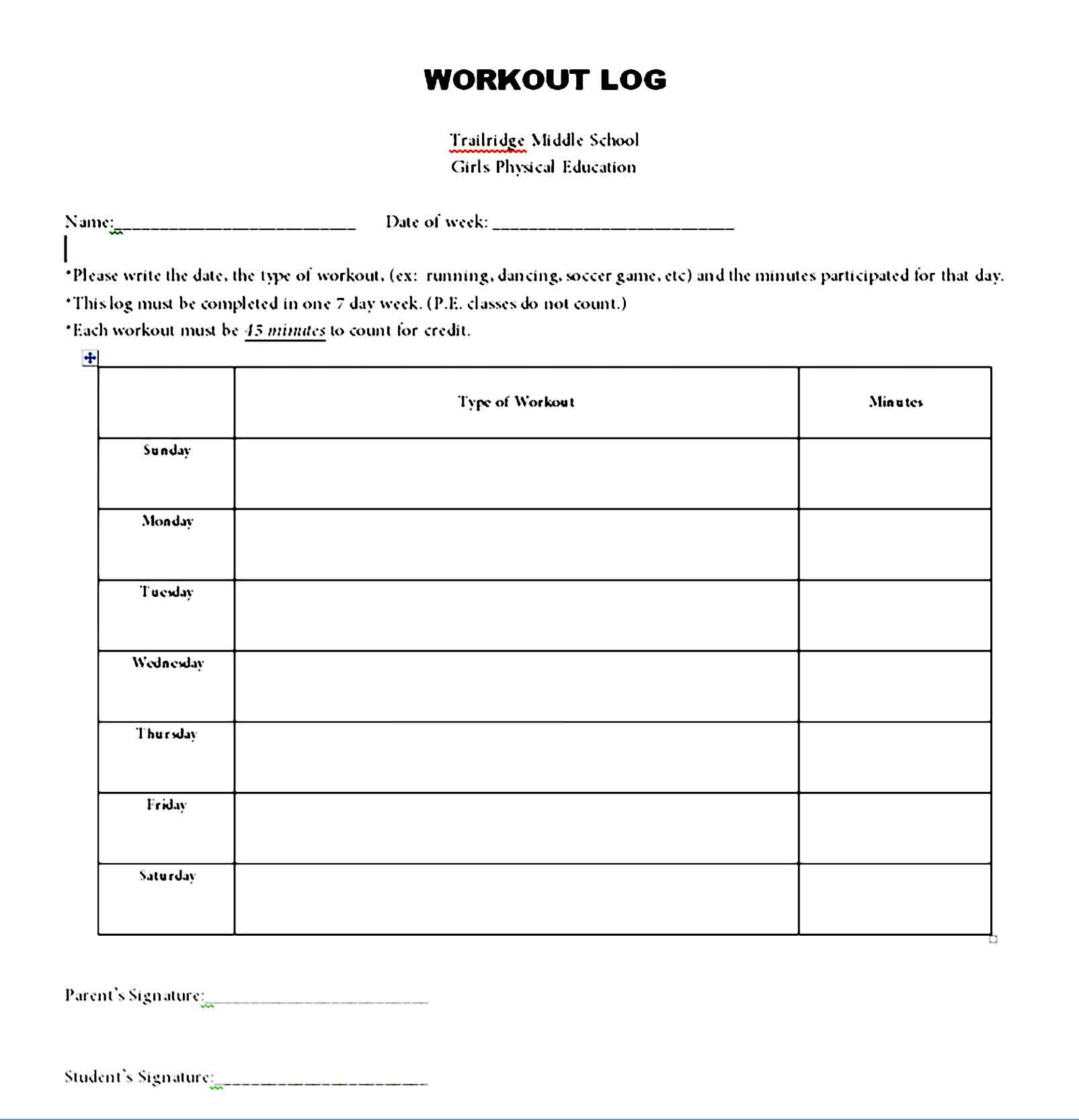 workout template 19