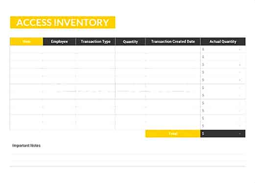 Access Inventory Template