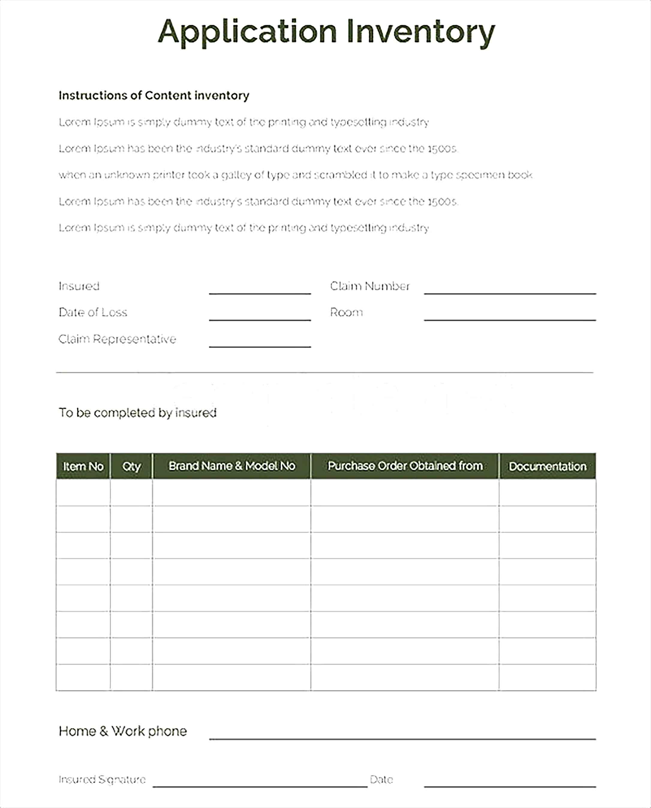 Application Inventory Template