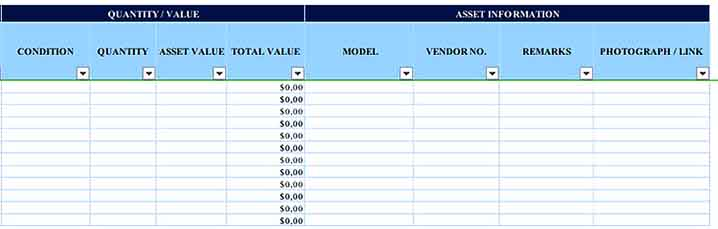 Asset Tracking Inventory 2 Templates Sample