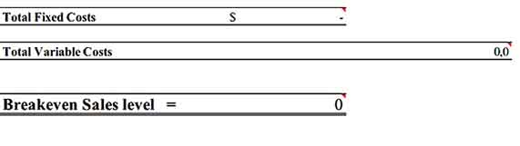 Breakeven Analysis Inventory Sample Template Download 2